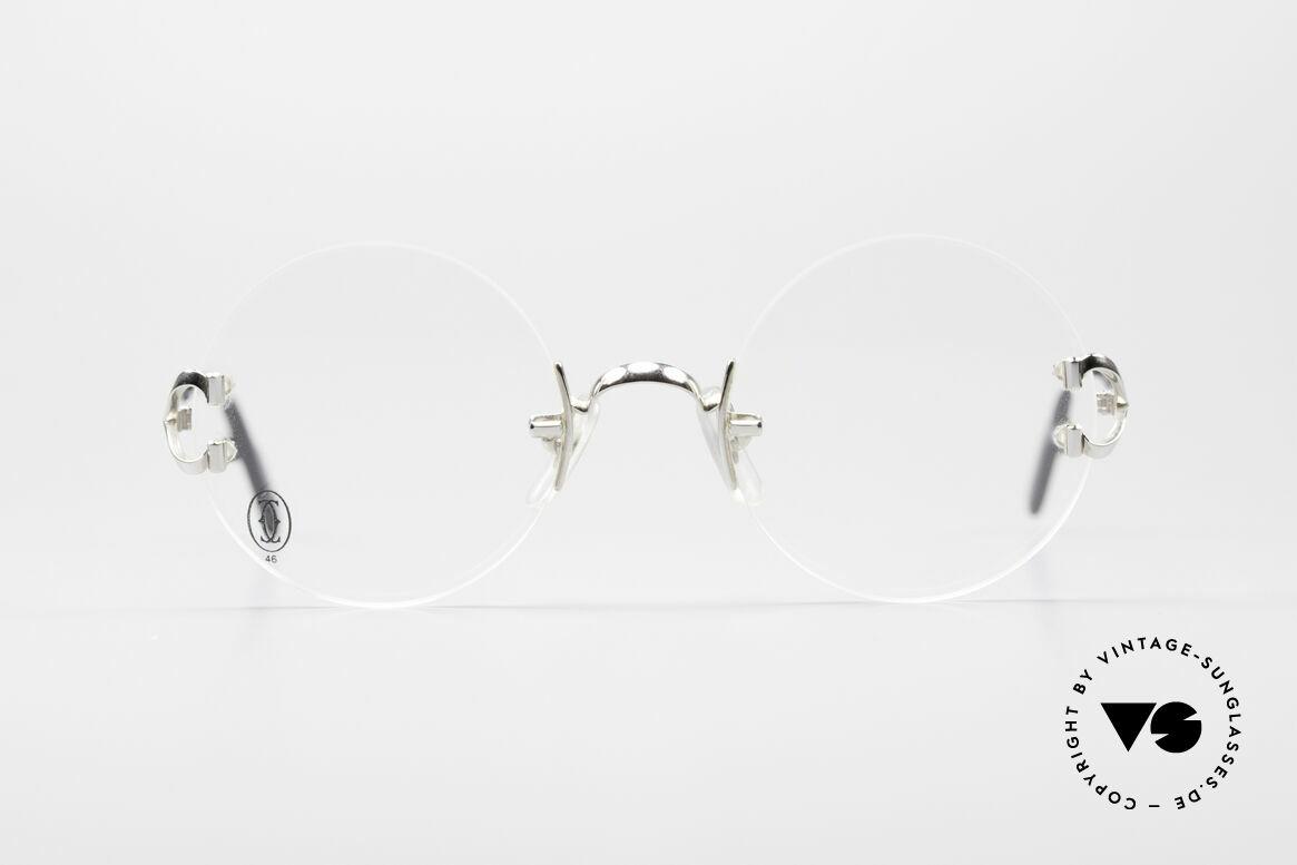 Cartier Madison Rimless Round Platinum Frame