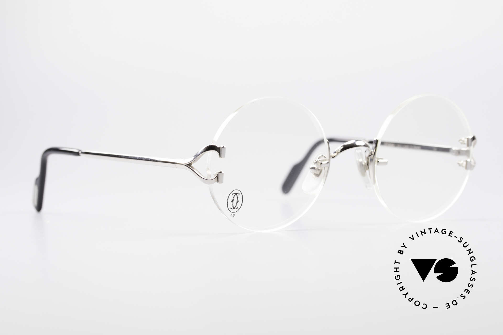 e6265edf13 Sunglasses Cartier Madison Rimless Round Platinum Frame