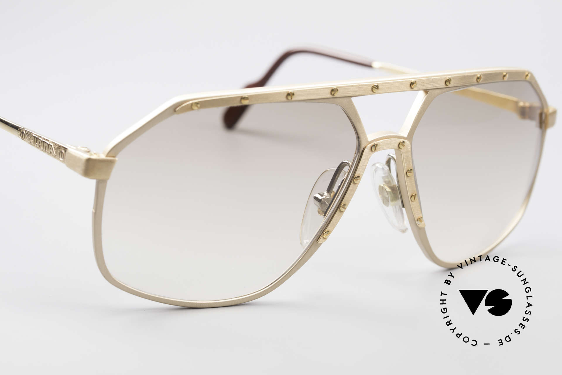 Alpina M6 Legendary 80's Sunglasses, very light tinted sun lenses; also wearable at night, Made for Men