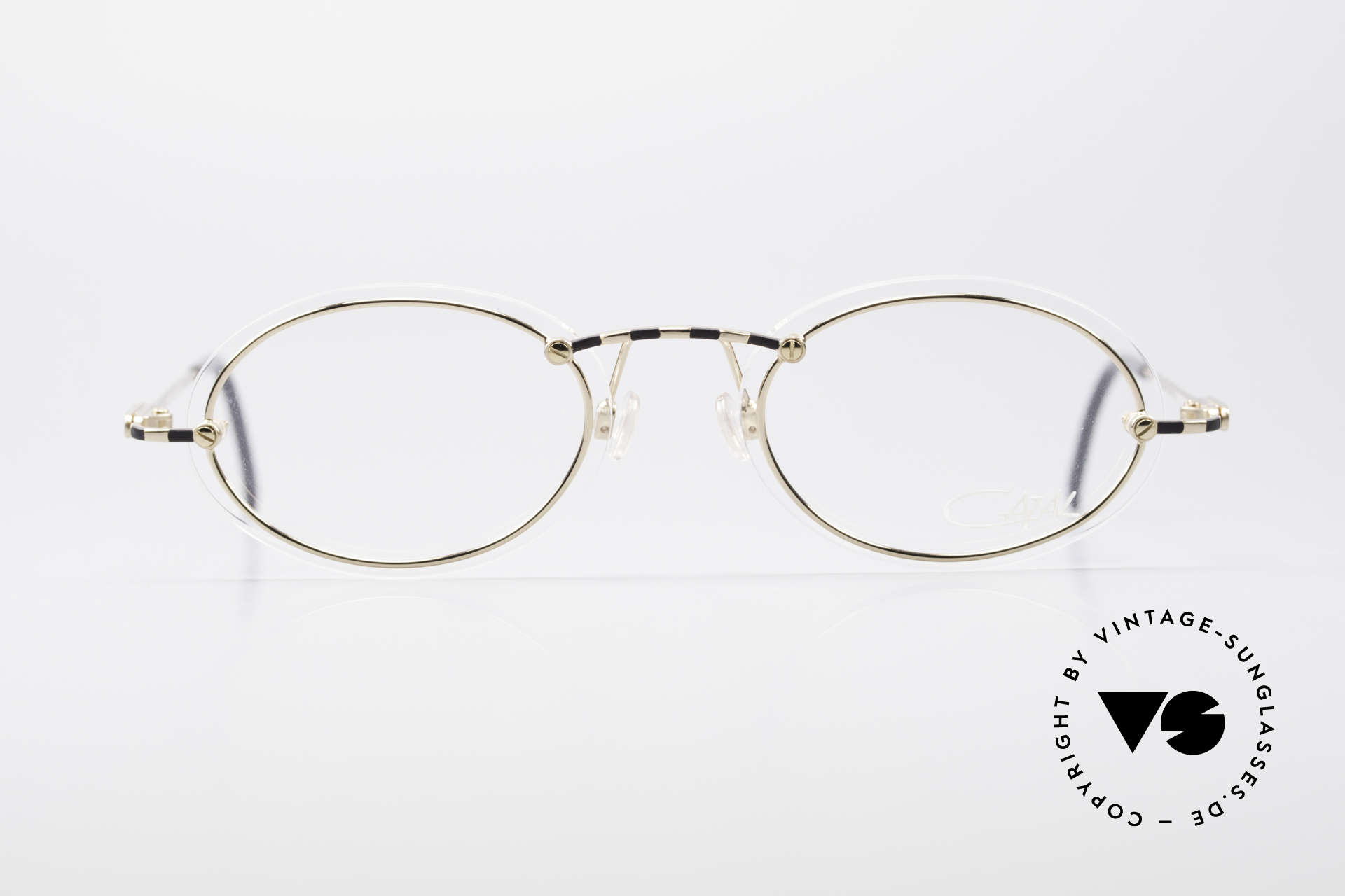 Cazal 770 90's Vintage Frame No Retro, thin metal frame with interesting lens mounting, Made for Men and Women