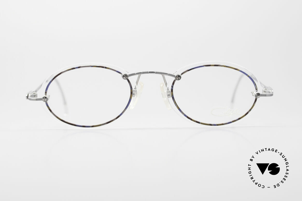 Cazal 770 Oval Vintage Frame No Retro, thin metal frame with interesting lens mounting, Made for Men and Women