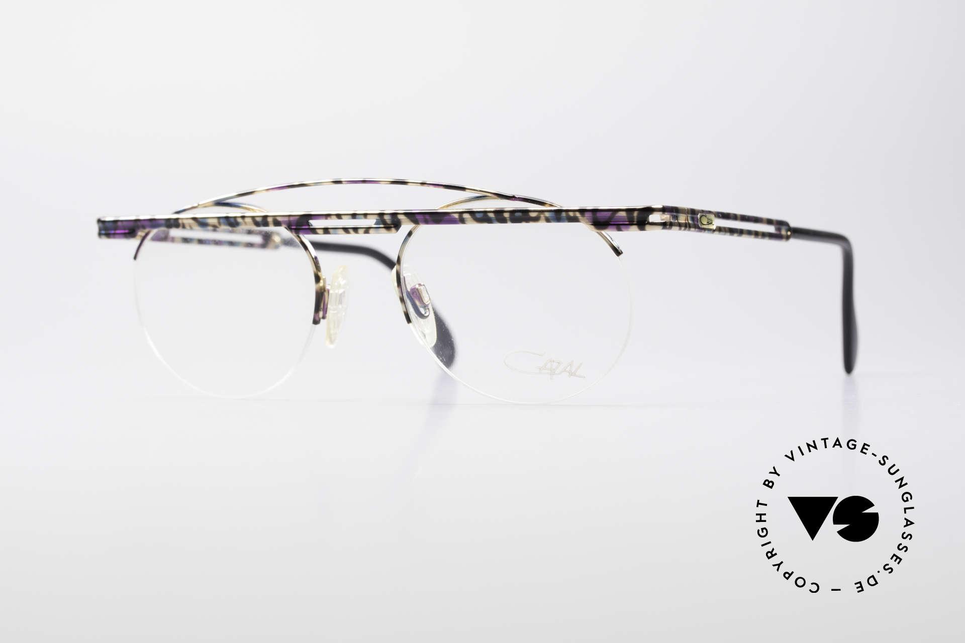 Cazal 748 Crazy Vintage No Retro Frame, interesting Cazal vintage eyeglasses-frame from 1997/98, Made for Men and Women