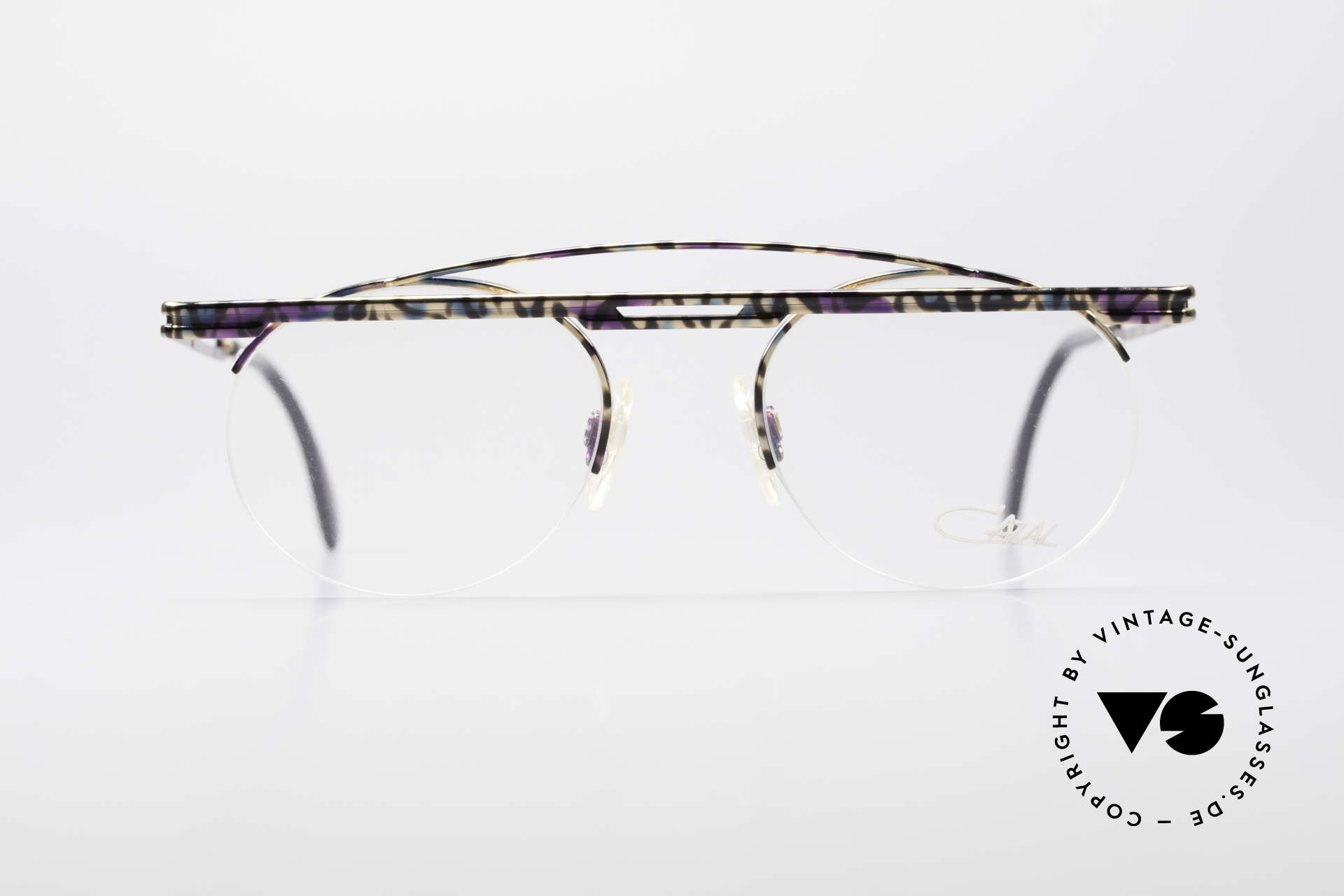 Cazal 748 Crazy Vintage No Retro Frame, great geometrical play (round & square, at the same time), Made for Men and Women