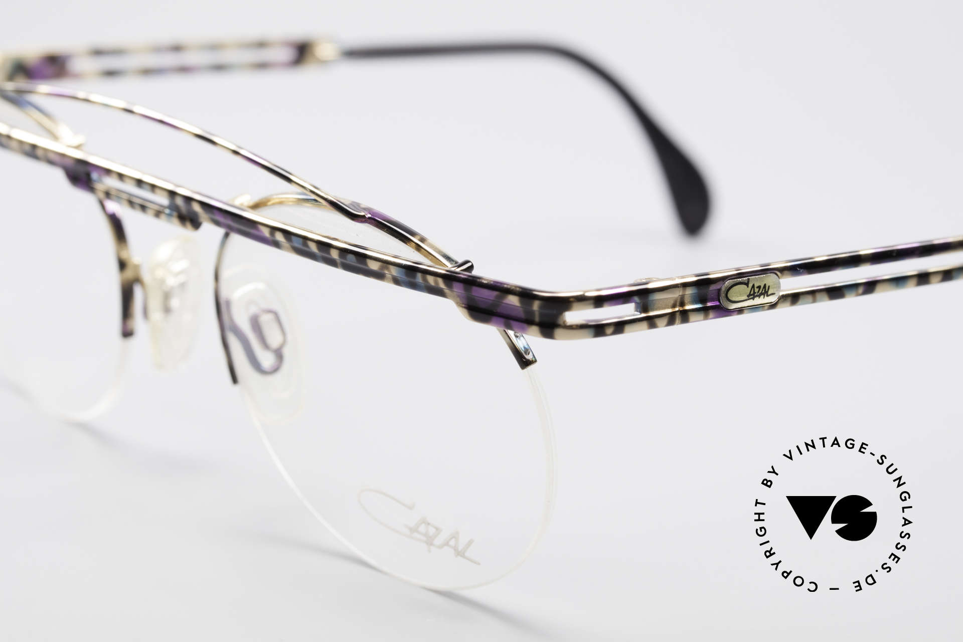 Cazal 748 Crazy Vintage No Retro Frame, color description in the old catalog: petrol/aubergine/black, Made for Men and Women