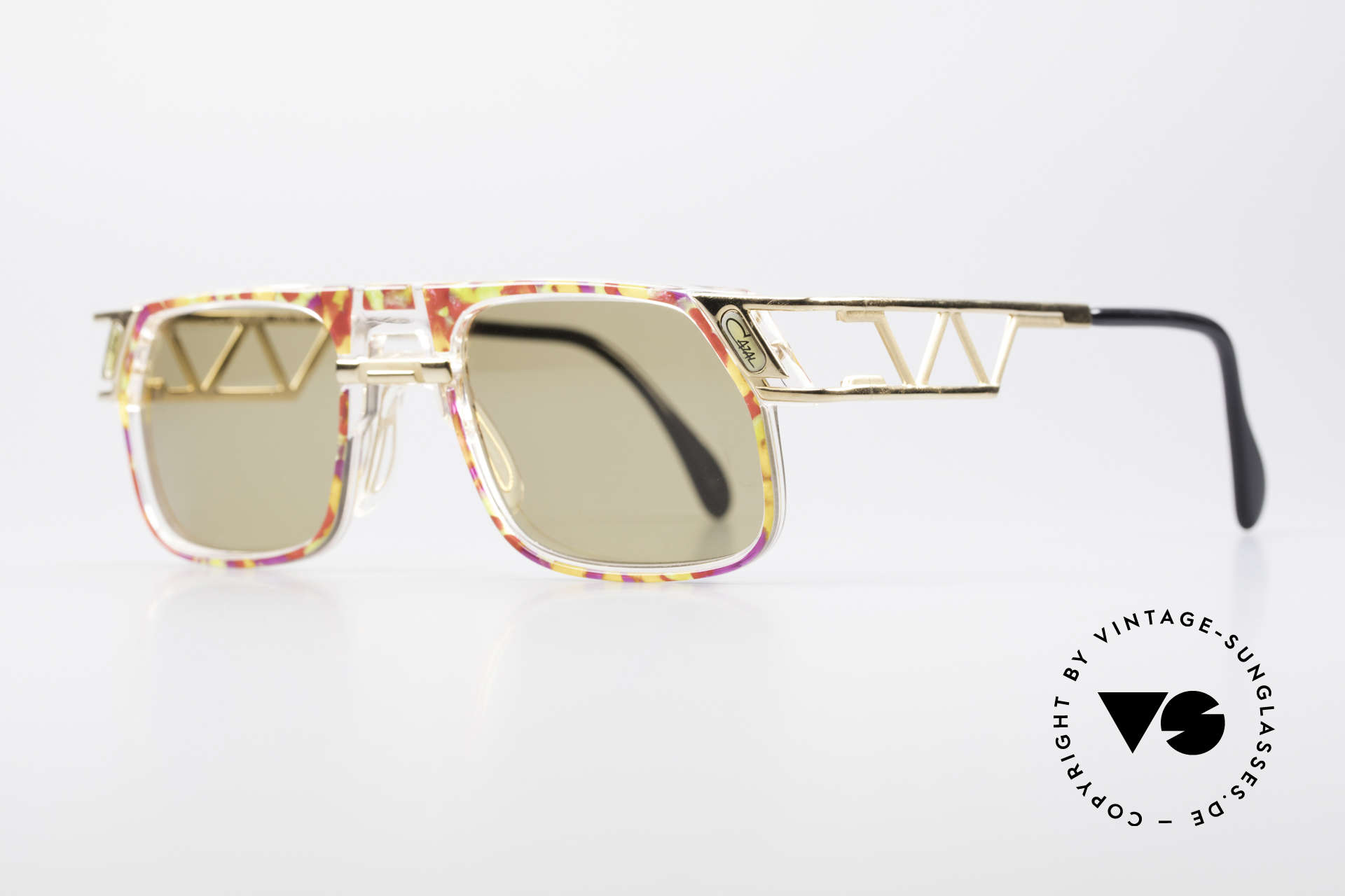 Cazal 876 90's Designer Vintage Frame, unique frame construction & multifaceted frame coloring, Made for Men and Women