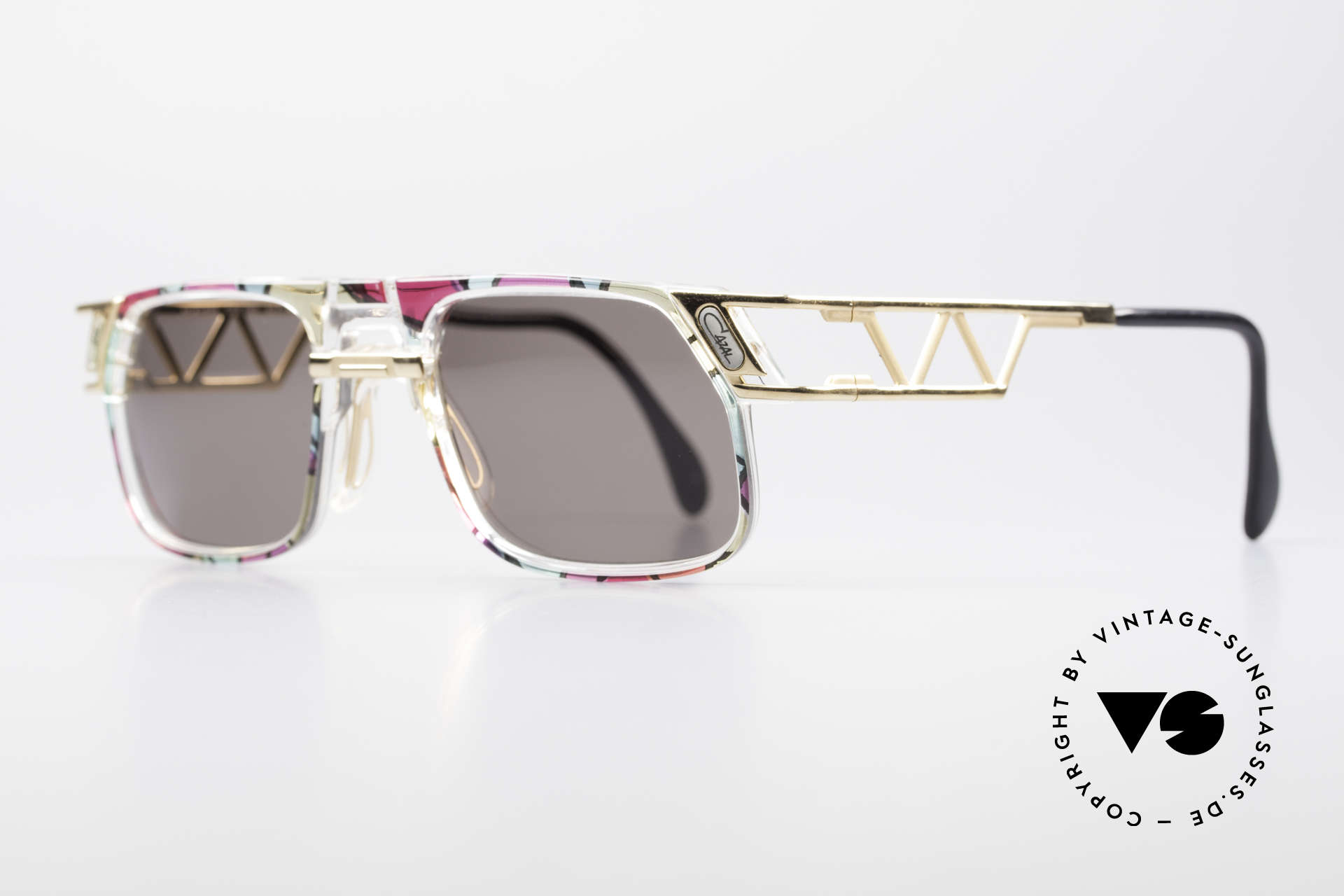 Cazal 876 True 90's No Retro Sunglasses, unique frame construction & multifaceted frame coloring, Made for Men and Women