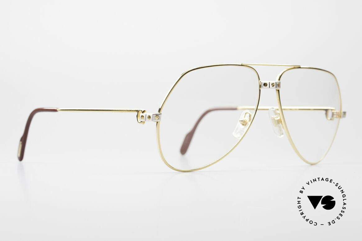 Cartier Vendome Santos - L Changeable Cartier Lenses, Santos Decor (with 3 screws) in LARGE size 62-14, 140, Made for Men