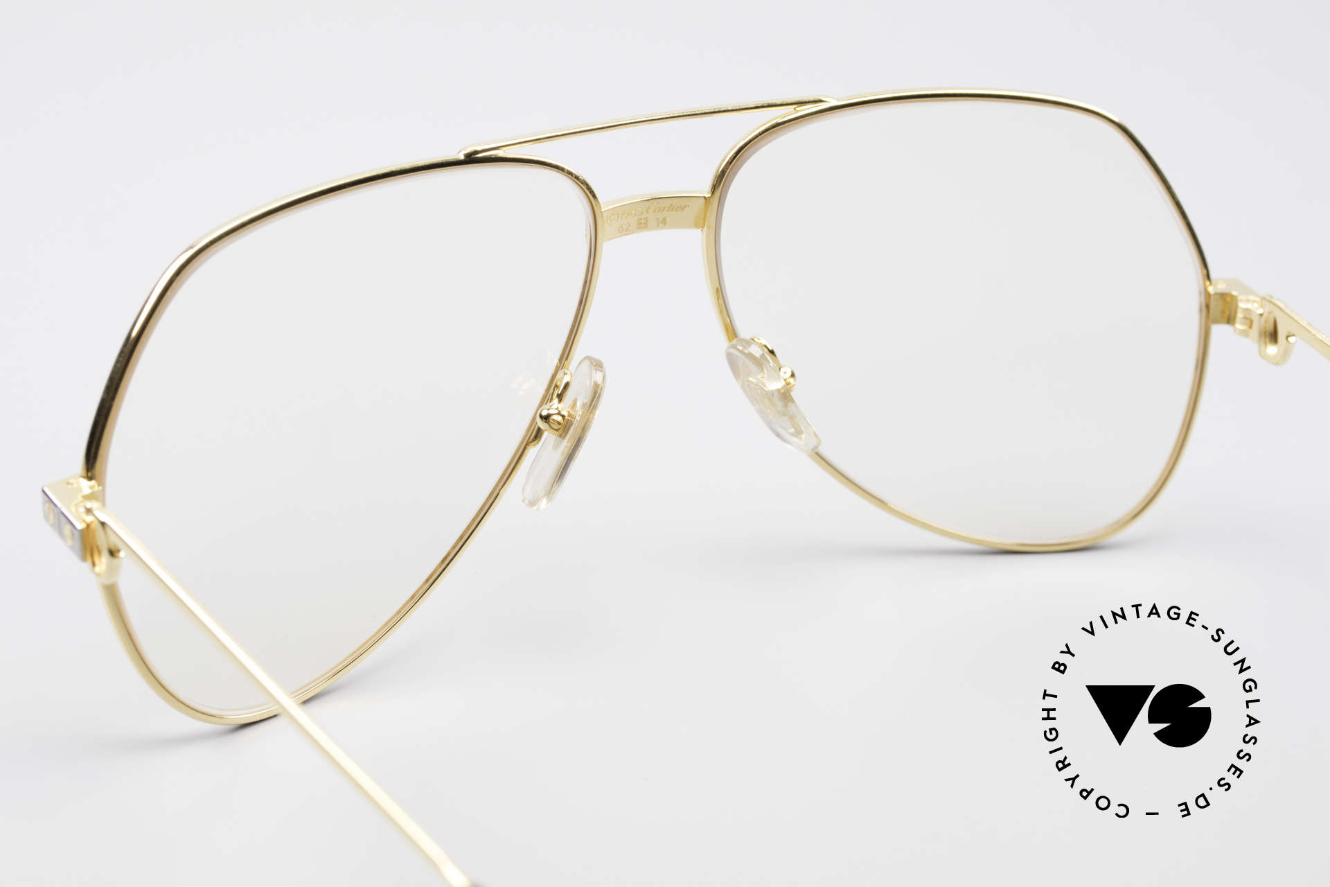 Cartier Vendome Santos - L Changeable Cartier Lenses, worn by actor Christopher Walken (JAMES BOND, 1985), Made for Men