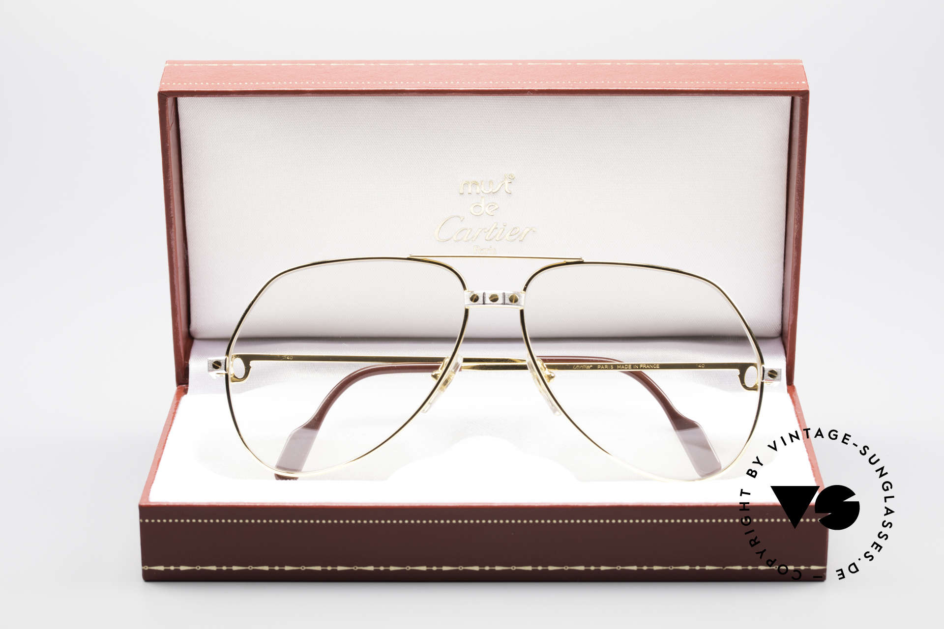 Cartier Vendome Santos - L Changeable Cartier Lenses, the lenses are darker in the sun and lighter in the shade, Made for Men