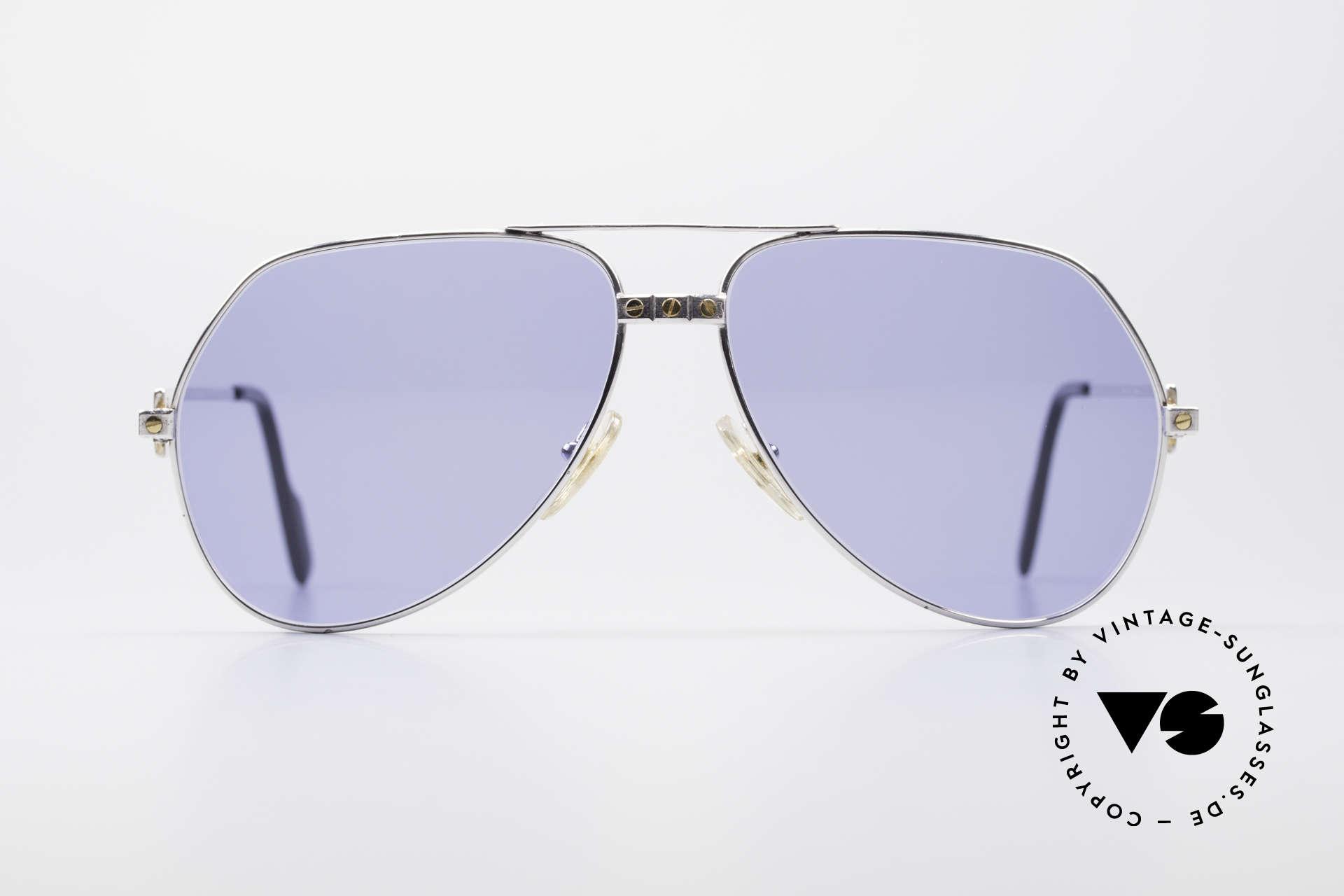 8b67017ca4f80 Sunglasses Cartier Vendome Santos - L Special Silver Edition ...