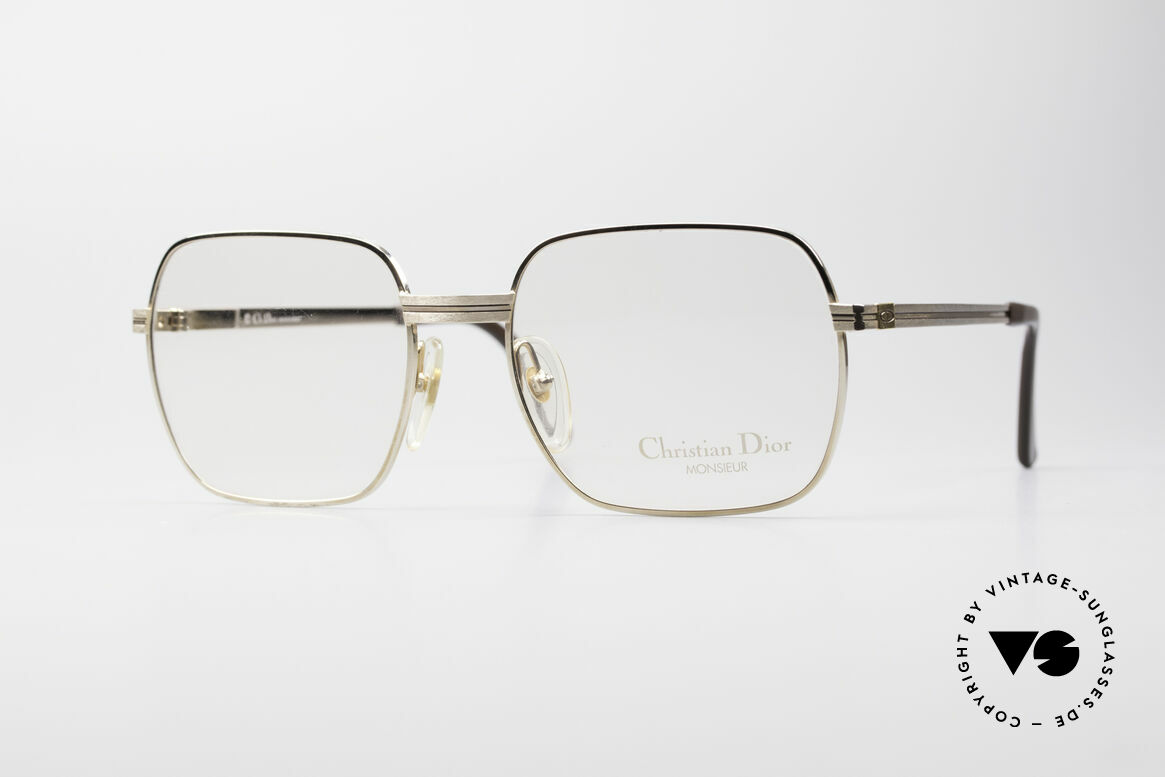 Christian Dior 2389 Gold-Plated Monsieur Frame, vintage glasses of the legendary DIOR Monsieur Series, Made for Men