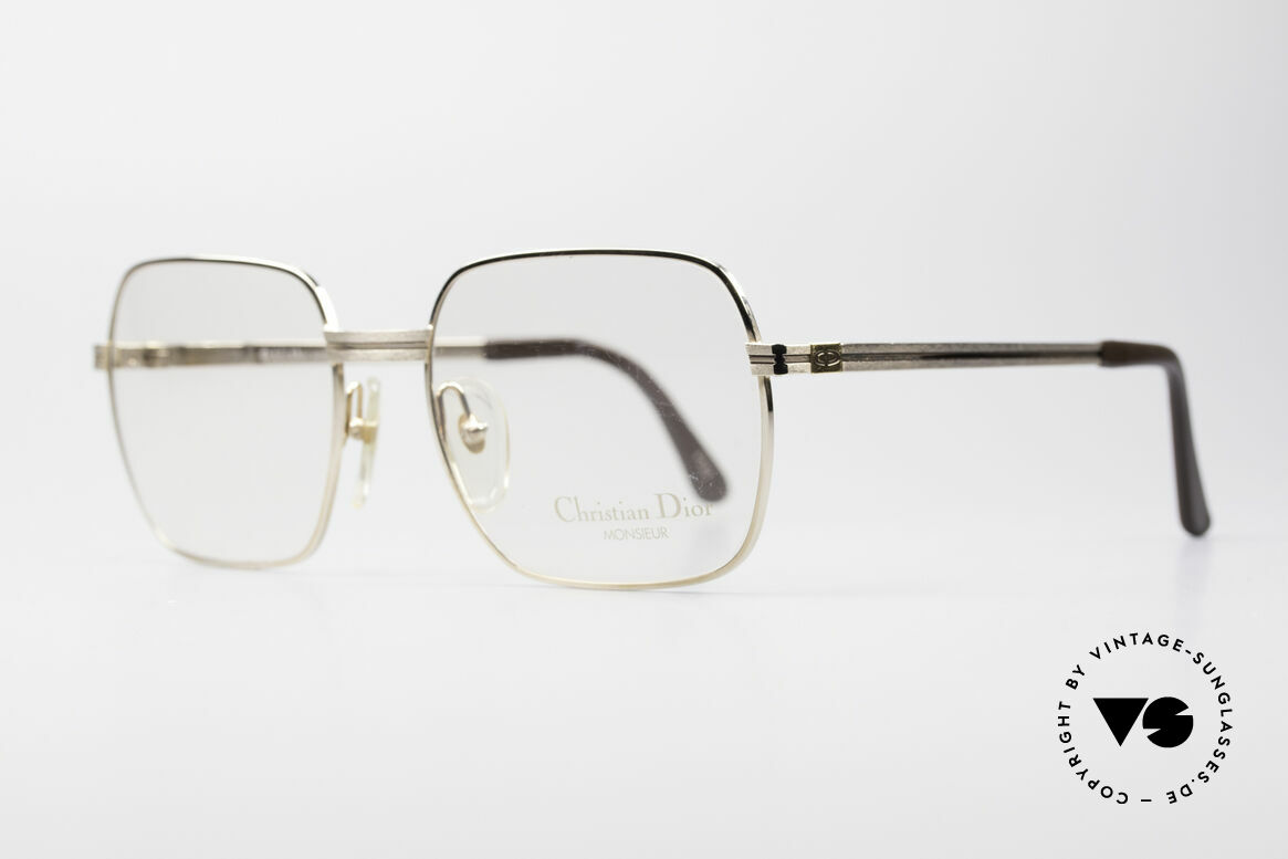 Christian Dior 2389 Gold-Plated Monsieur Frame, classic, elegant 80s gentlemen's style by Christian Dior, Made for Men