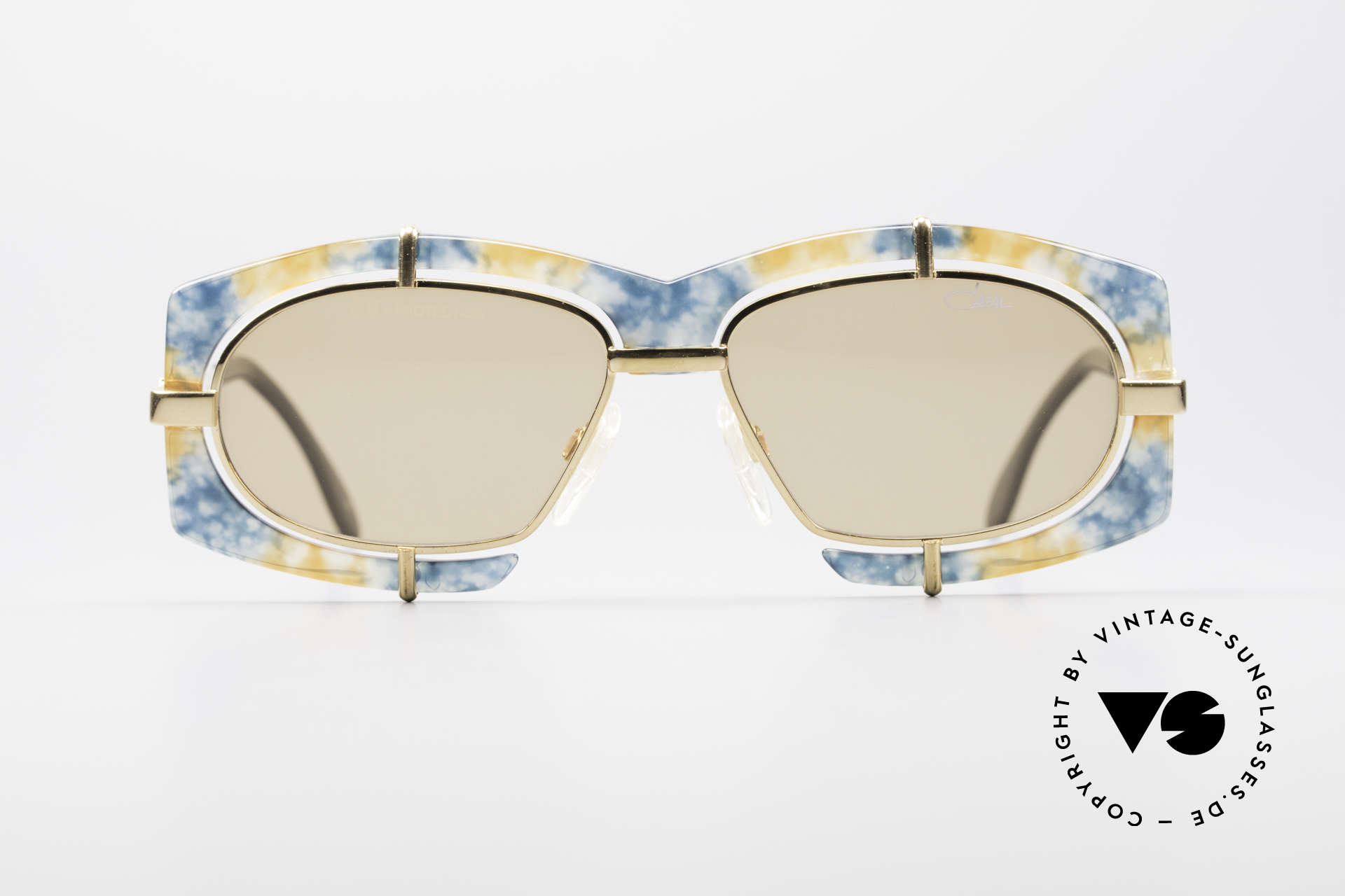 Cazal 872 Flashy Haute Couture Shades, extravagant lens mounting & spunky frame coloring, Made for Men and Women