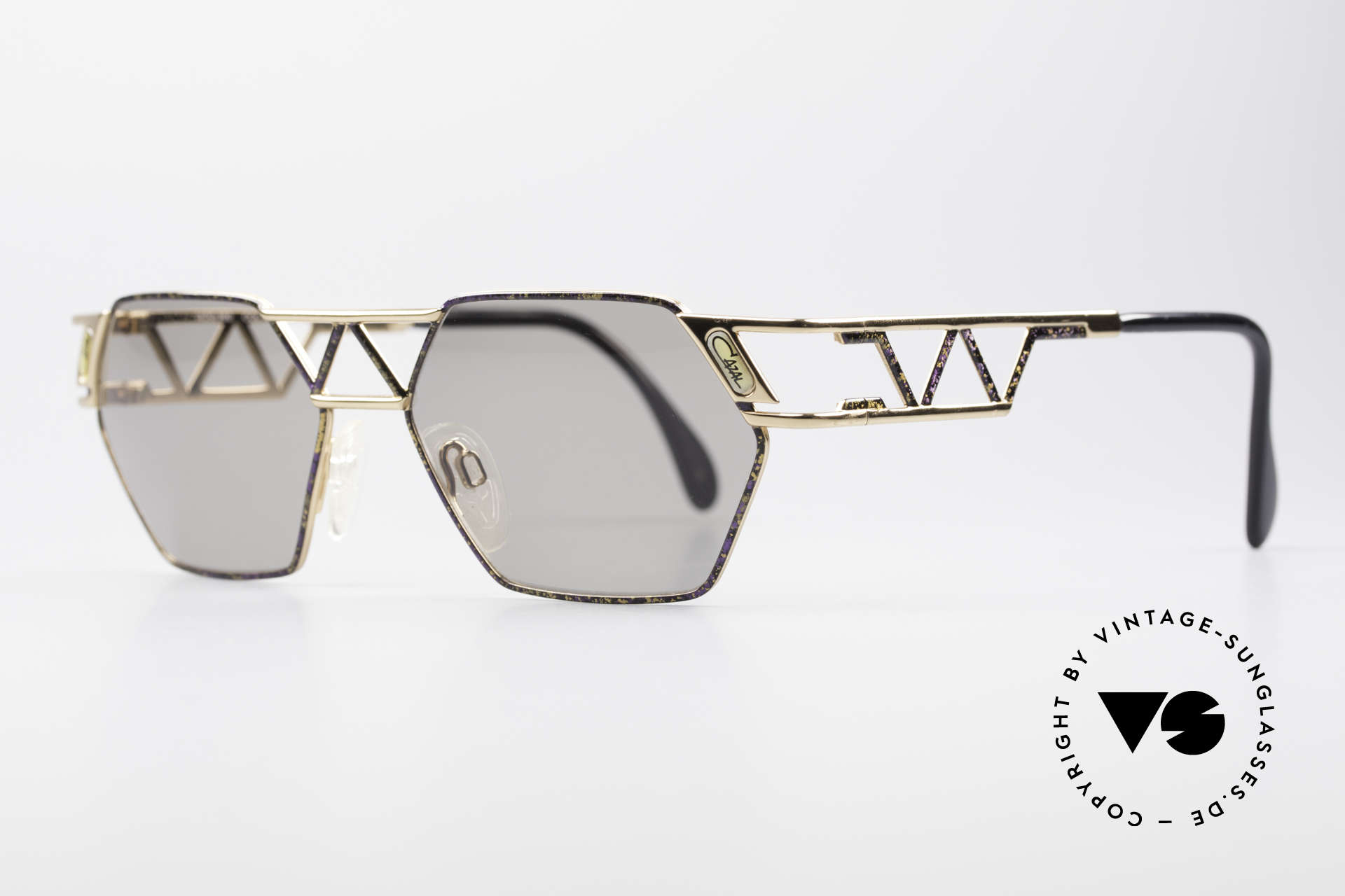 Cazal 960 Unique Designer Sunglasses, noble & interesting coloring / pattern (purple mottled), Made for Men and Women