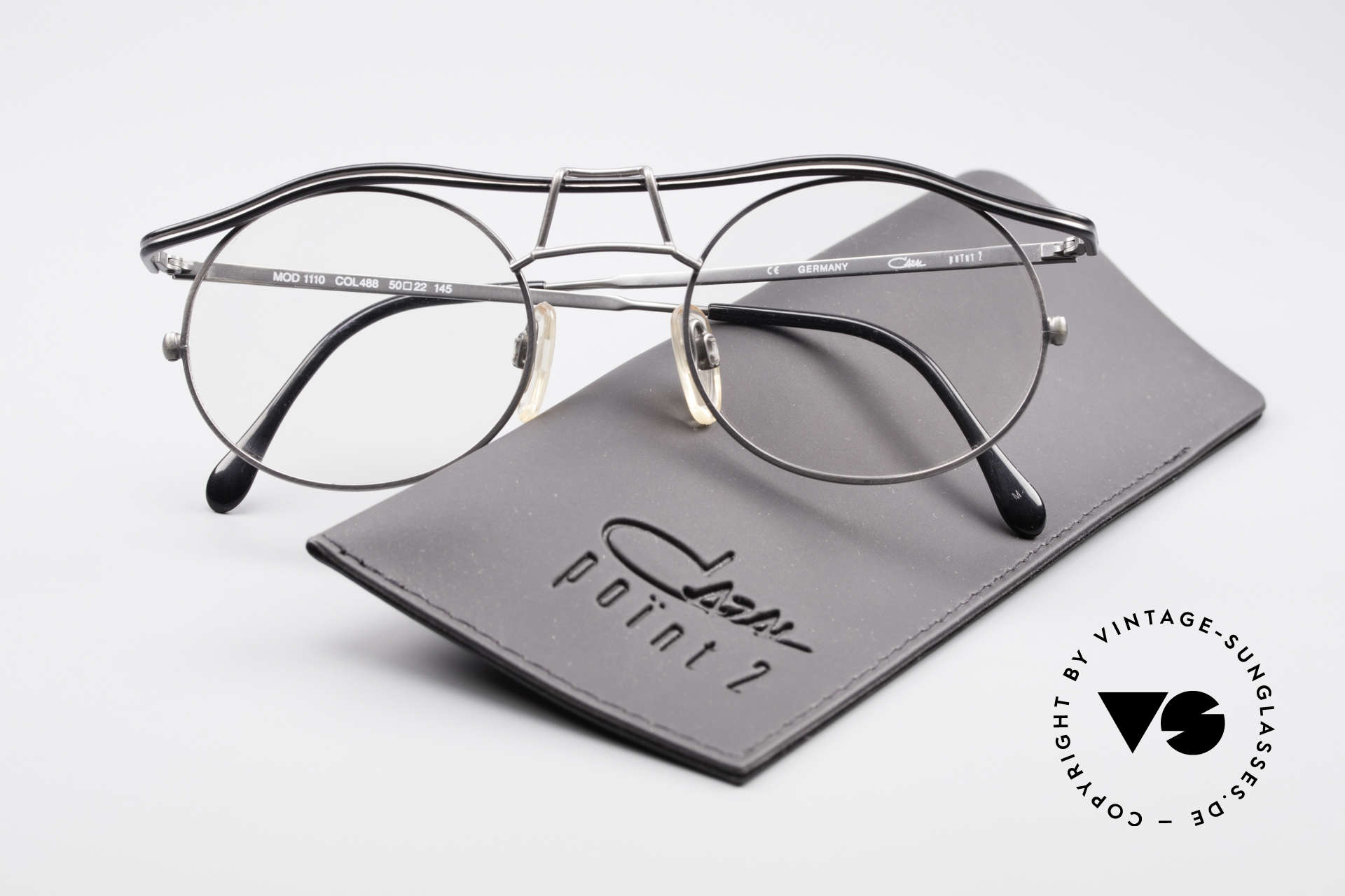Cazal 1110 - Point 2 90's Industrial Vintage Frame, the frame is made for lenses of any kind (optical / sun), Made for Men