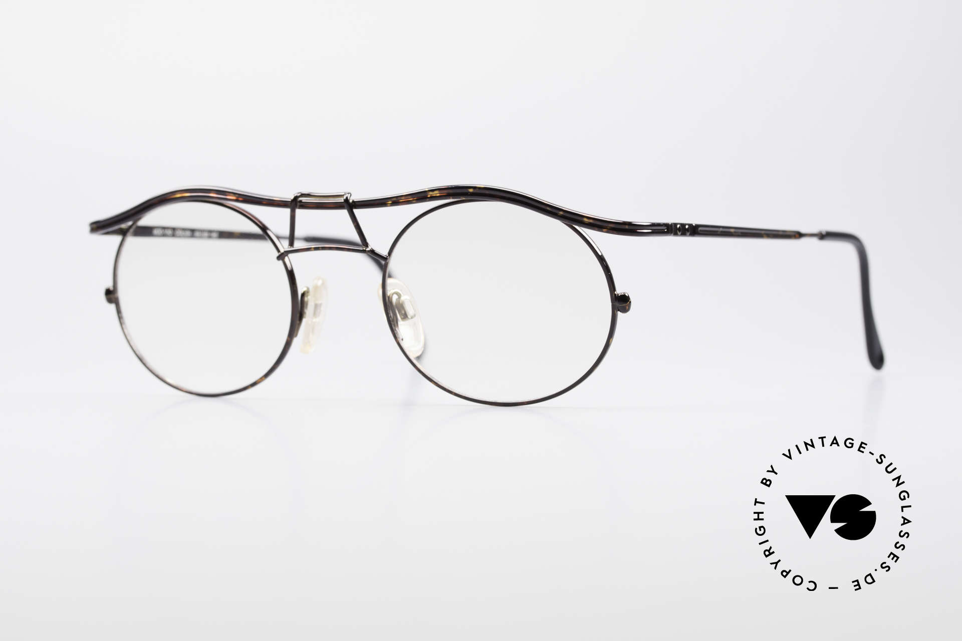 Cazal 1110 - Point 2 90's Industrial Eyeglasses, 1110: one of the top-models of the Cazal 'Point 2' series, Made for Men