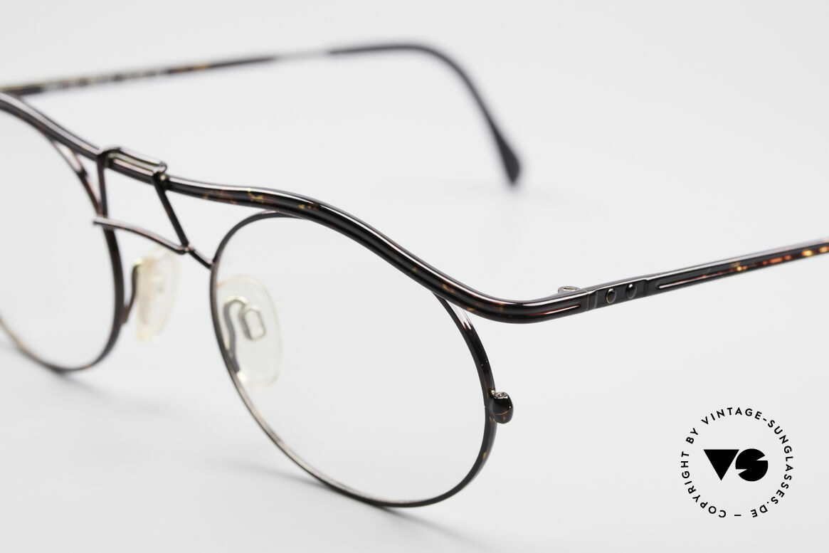 Cazal 1110 - Point 2 90's Industrial Eyeglasses, never worn (like all our rare vintage glasses by CAZAL), Made for Men