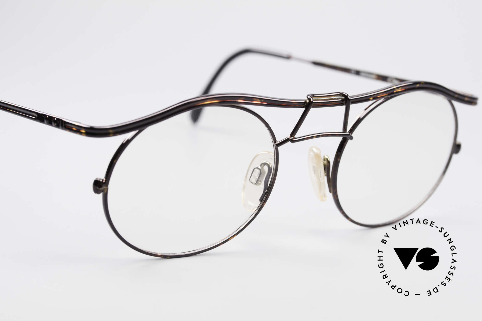Cazal 1110 - Point 2 90's Industrial Eyeglasses, NO RETRO FASHION; but an old ORIGINAL from 1999, Made for Men