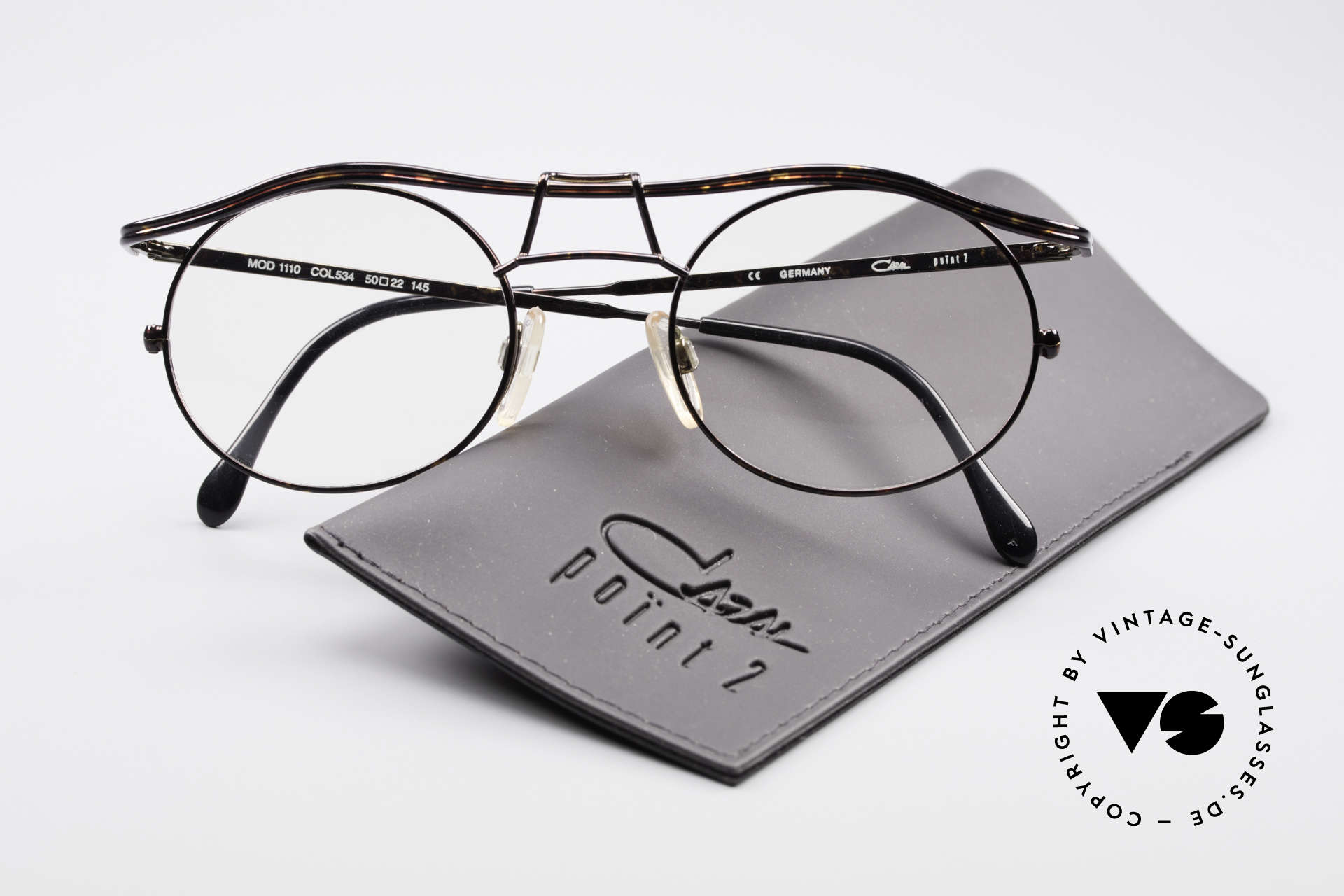 Cazal 1110 - Point 2 90's Industrial Eyeglasses, the frame is made for lenses of any kind (optical / sun), Made for Men