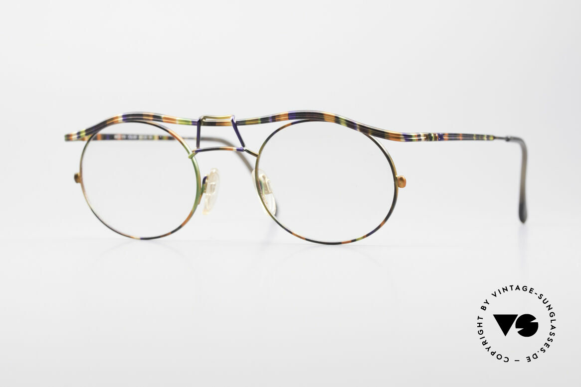Cazal 1110 - Point 2 90's Industrial Eyeglass-Frame, 1110: one of the top-models of the Cazal 'Point 2' series, Made for Men