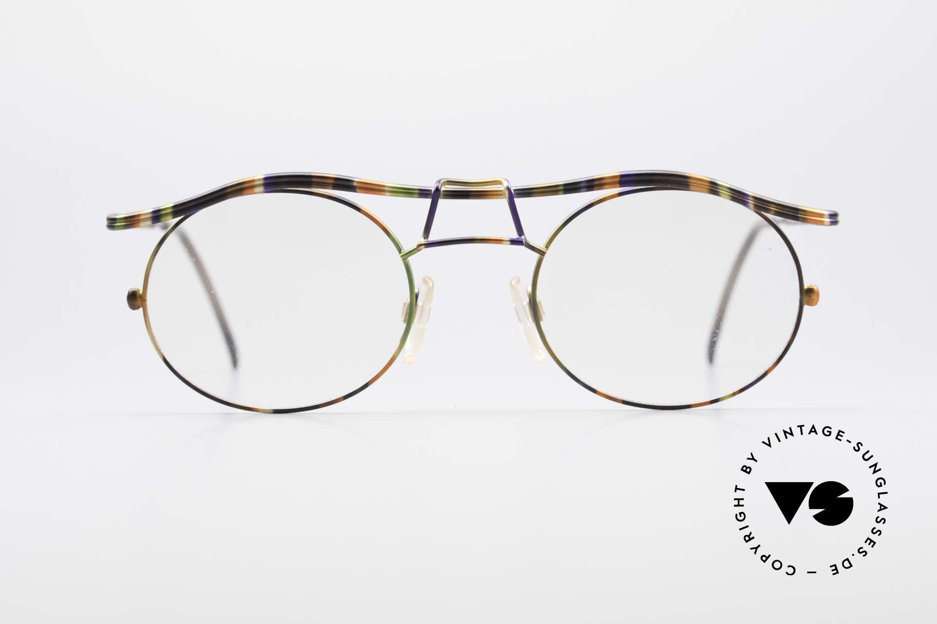 Cazal 1110 - Point 2 90's Industrial Eyeglass-Frame, the frame recalls the 90's industrial / steampunk design, Made for Men