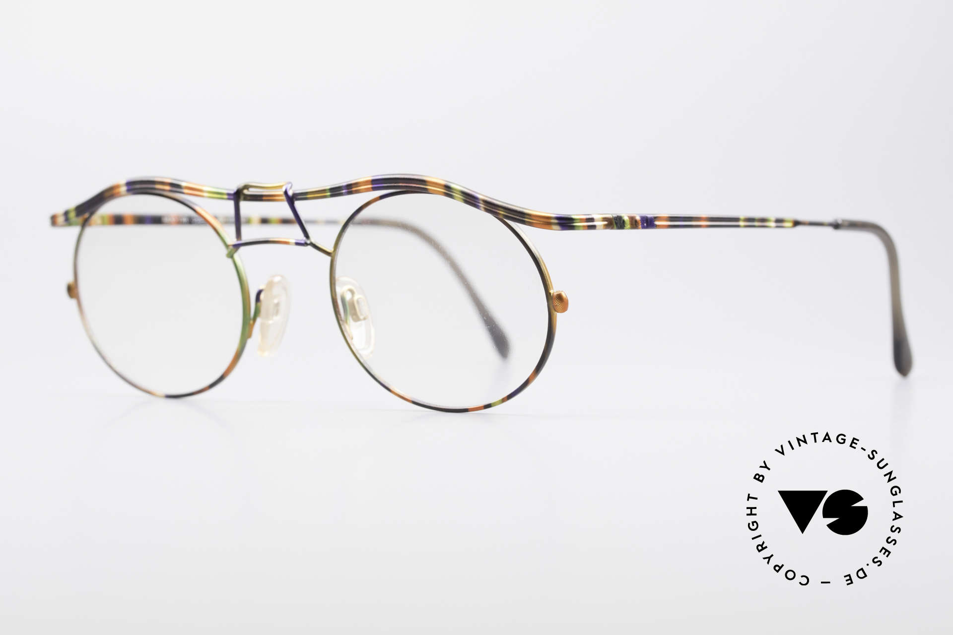 Cazal 1110 - Point 2 90's Industrial Eyeglass-Frame, tangible superior crafting quality (made in GERMANY), Made for Men
