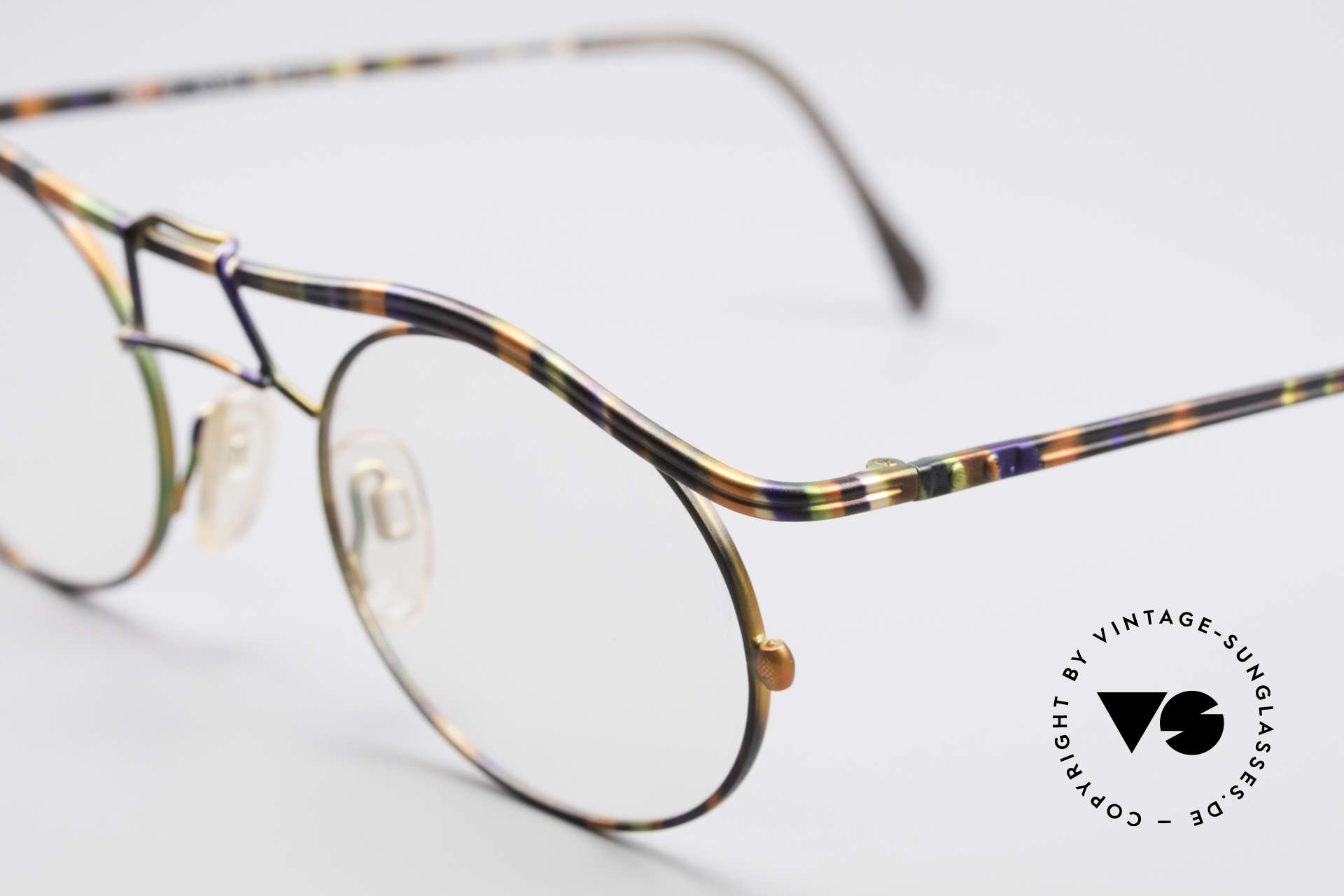 Cazal 1110 - Point 2 90's Industrial Eyeglass-Frame, never worn (like all our rare vintage glasses by CAZAL), Made for Men