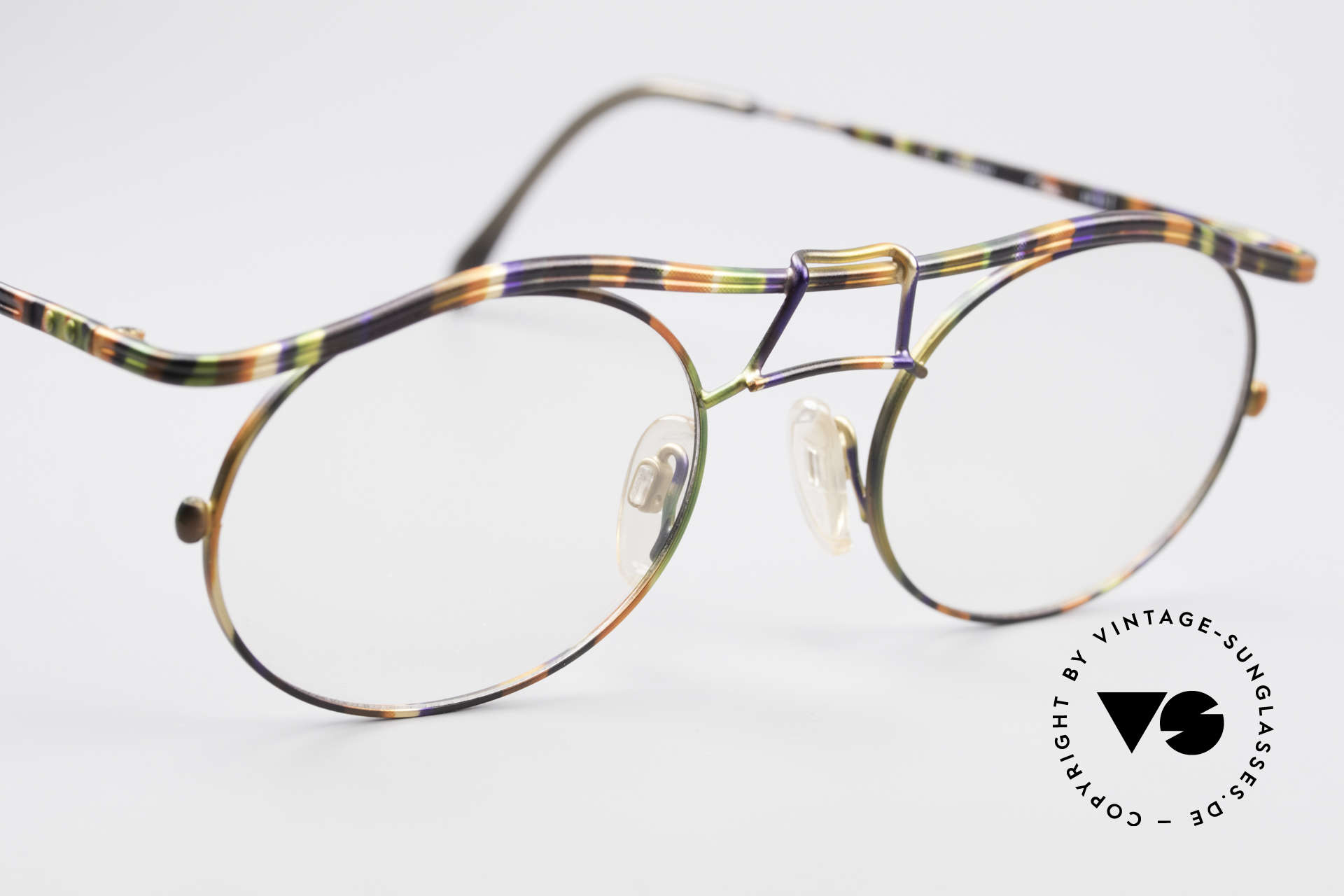 Cazal 1110 - Point 2 90's Industrial Eyeglass-Frame, NO RETRO FASHION; but an old ORIGINAL from 1999, Made for Men