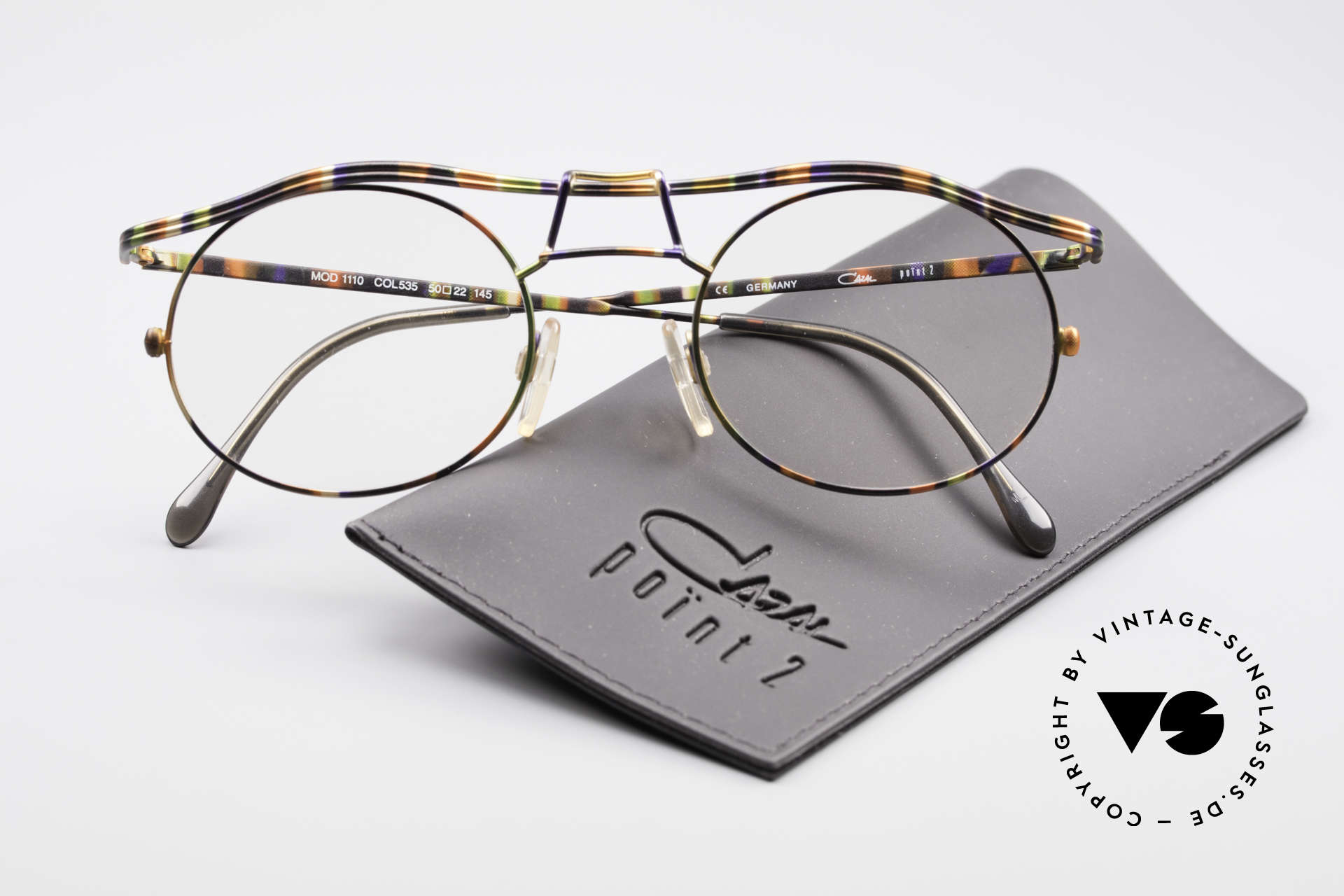 Cazal 1110 - Point 2 90's Industrial Eyeglass-Frame, the frame is made for lenses of any kind (optical / sun), Made for Men