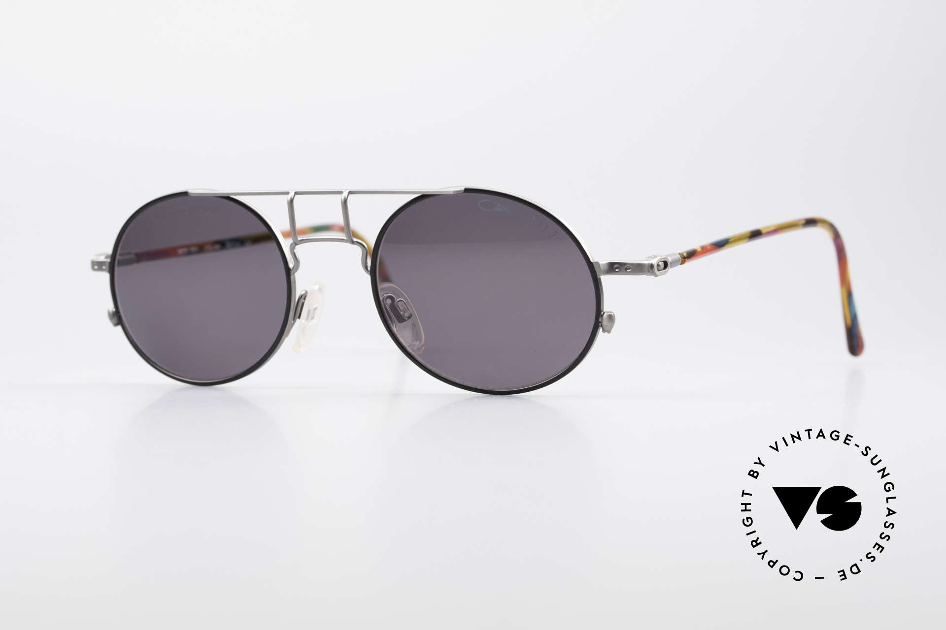Cazal 1201 - Point 2 90's Industrial Style Shades, 1201: one of the top-models of the Cazal Point 2 series, Made for Men
