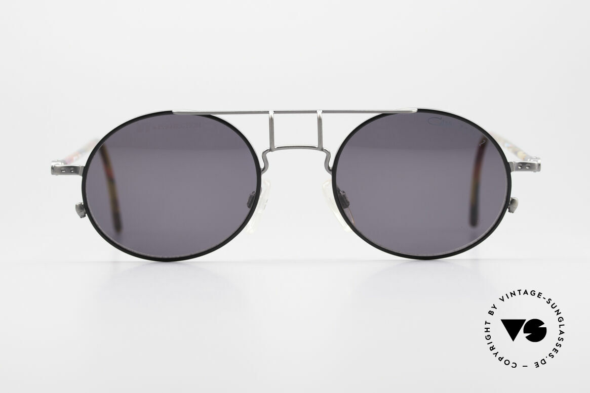 Cazal 1201 - Point 2 90's Industrial Style Shades, the frame recalls the 90s industrial / steampunk design, Made for Men