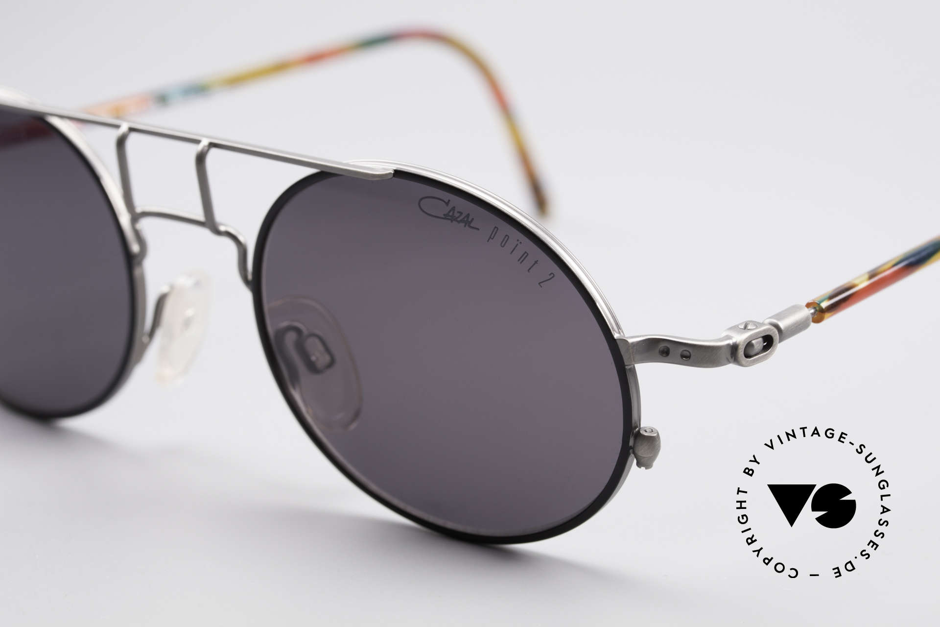 Cazal 1201 - Point 2 90's Industrial Style Shades, never worn (like all our rare vintage shades by CAZAL), Made for Men