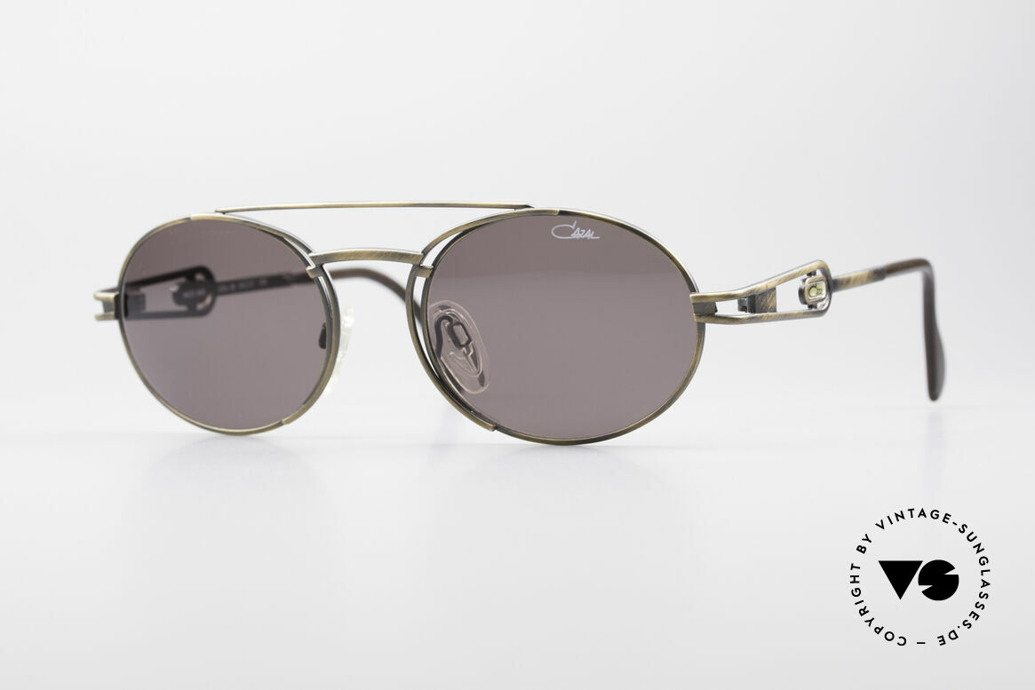 Cazal 965 Oval Steampunk Style Shades, very striking vintage sunglasses by CAZAL from 1996, Made for Men and Women