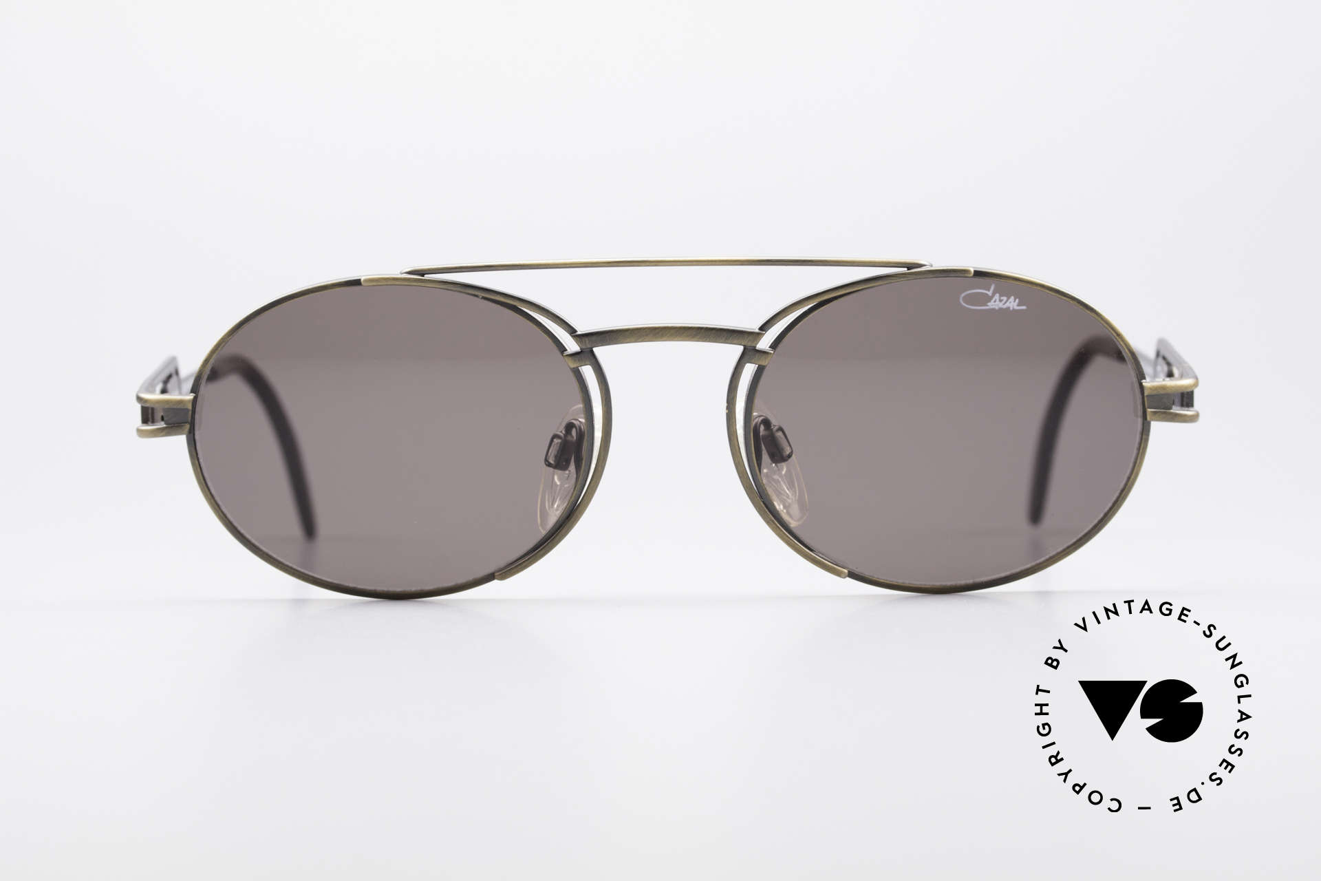 Cazal 965 Oval Steampunk Style Shades, frame is reminiscent of 'industrial/steampunk' design, Made for Men and Women