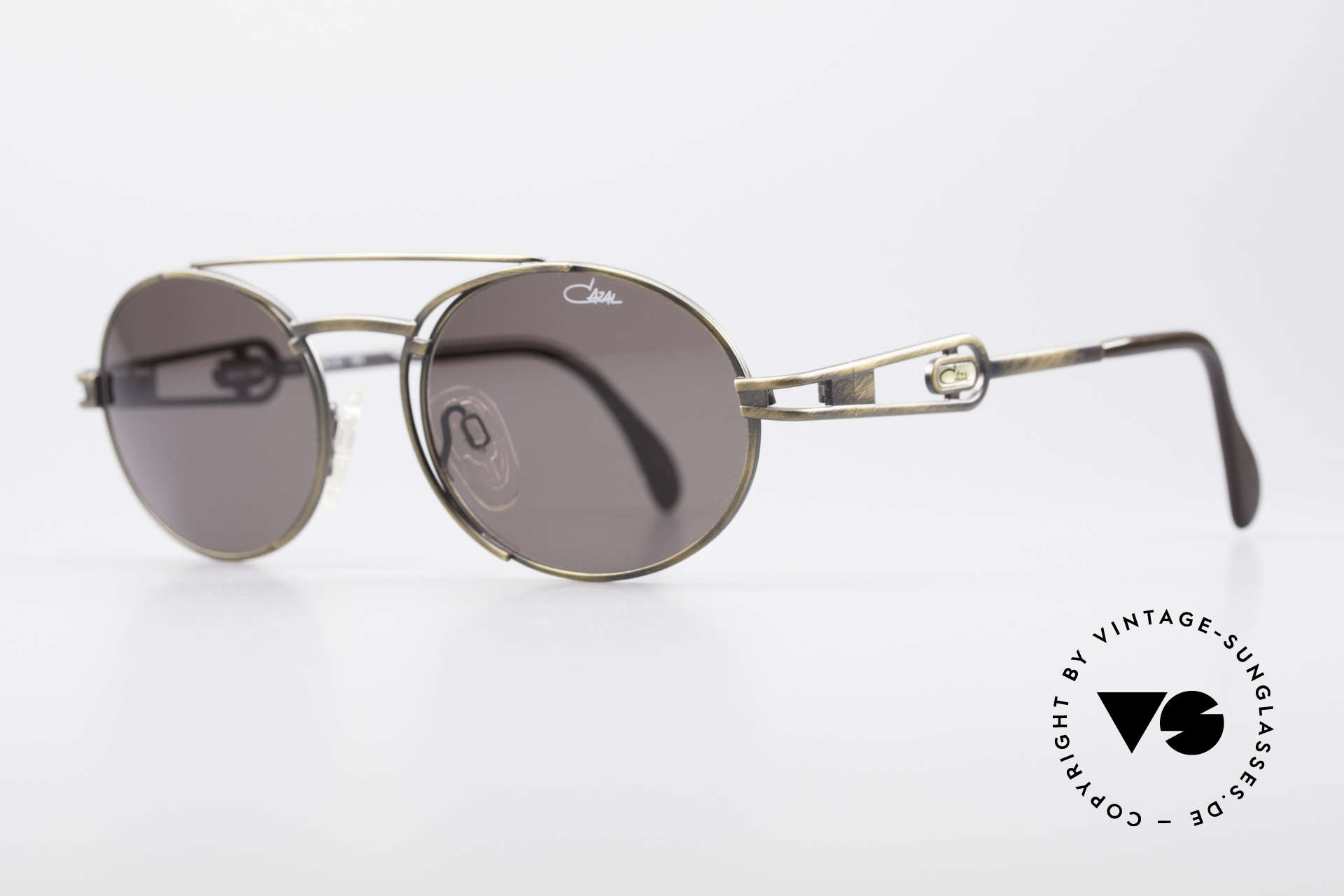 Cazal 965 Oval Steampunk Style Shades, outstanding quality (You must feel it!); - monolithic!, Made for Men and Women