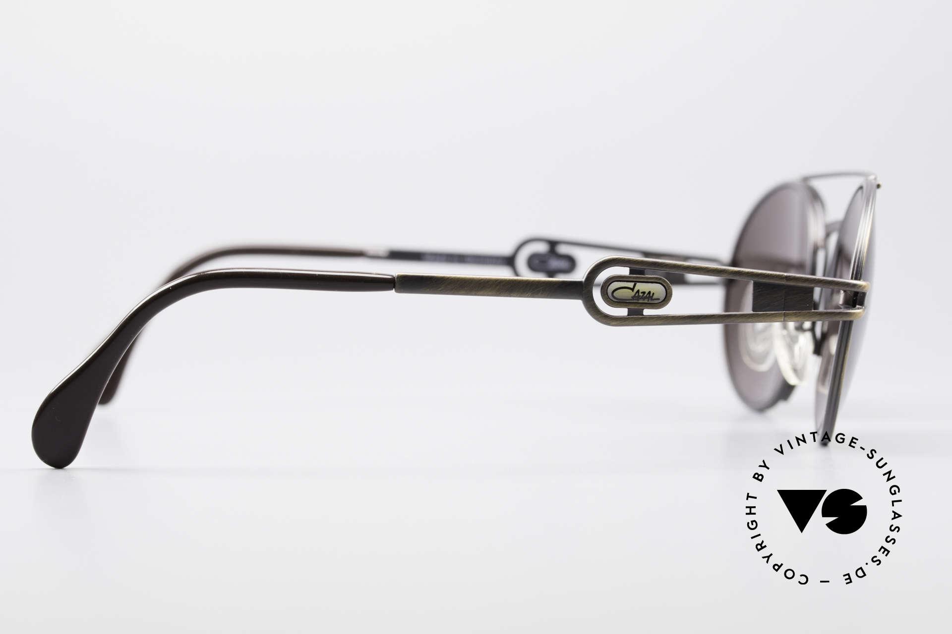 Cazal 965 Oval Steampunk Style Shades, Cazal sun lenses with 'UV Protection' mark (100% UV), Made for Men and Women