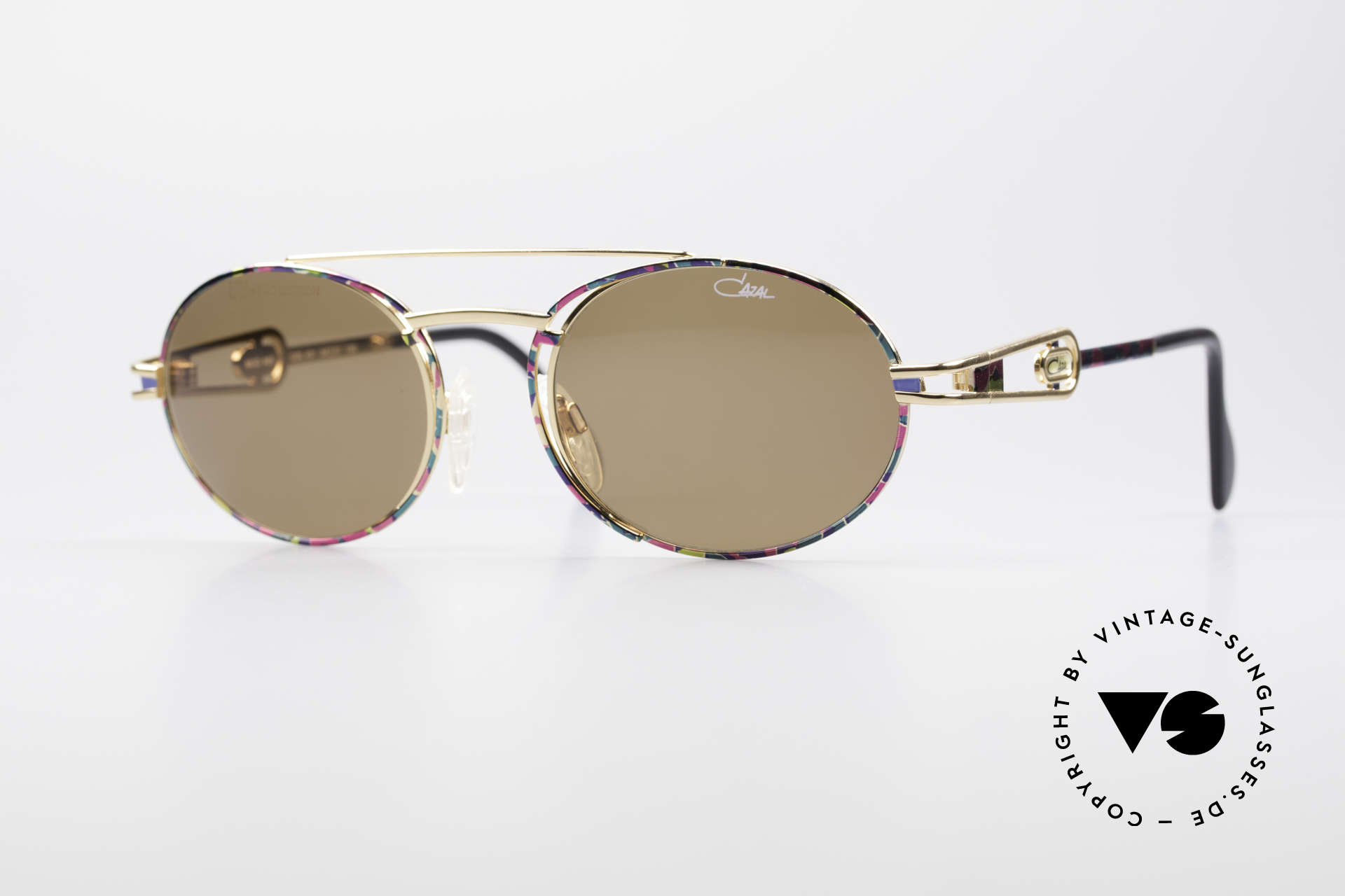 Cazal 965 90's Steampunk Style Shades, very striking vintage sunglasses by CAZAL from 1996, Made for Men and Women