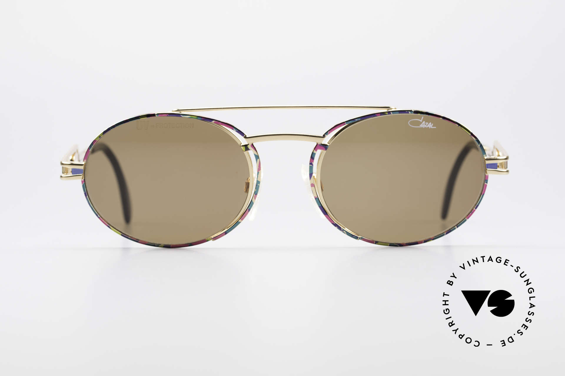 Cazal 965 90's Steampunk Style Shades, frame is reminiscent of 'industrial/steampunk' design, Made for Men and Women