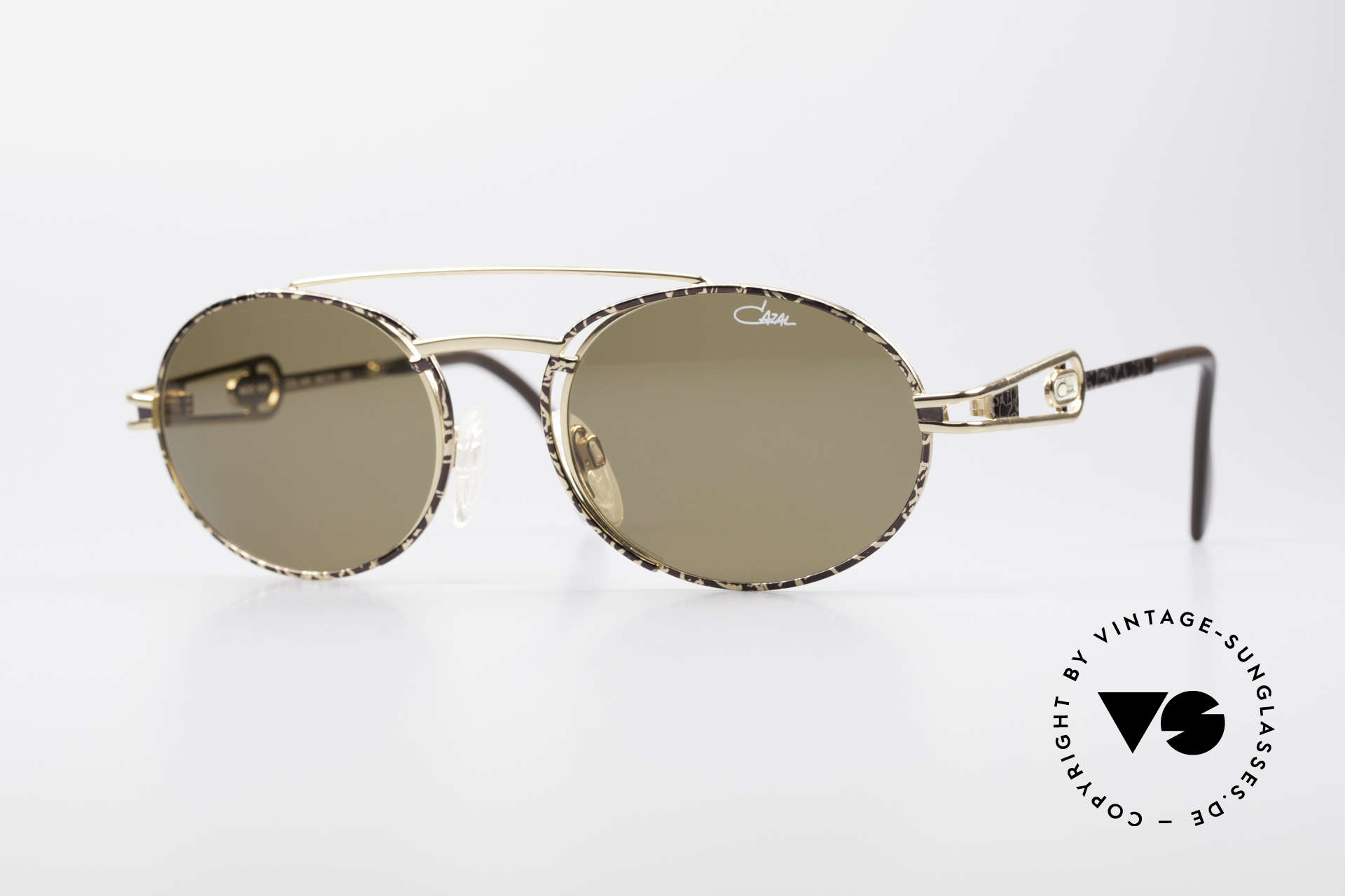 Cazal 965 90s Steampunk Oval Shades, very striking vintage sunglasses by CAZAL from 1996, Made for Men and Women