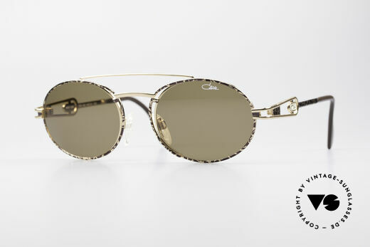 Cazal 965 90s Steampunk Oval Shades Details