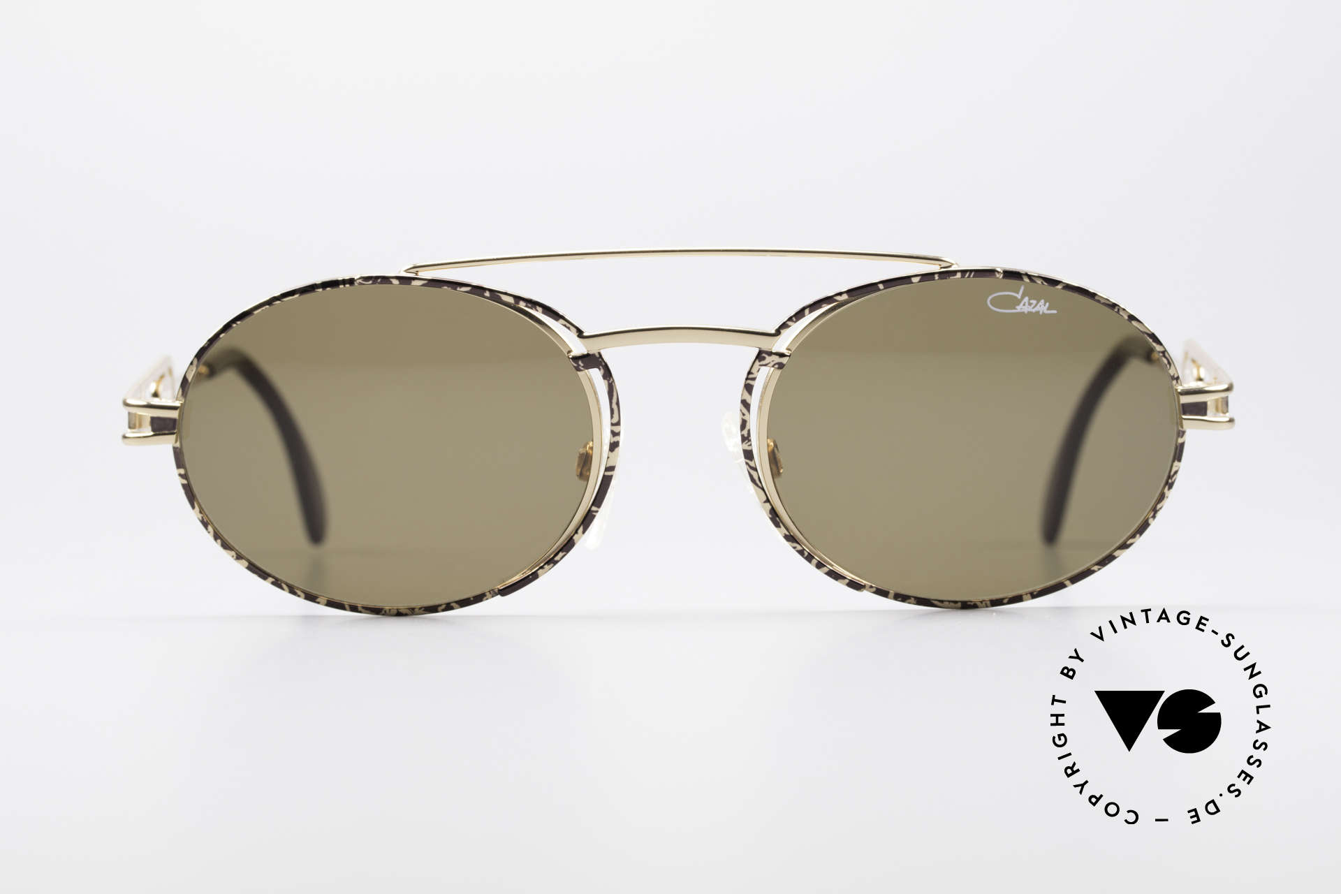 Cazal 965 90s Steampunk Oval Shades, frame is reminiscent of 'industrial/steampunk' design, Made for Men and Women