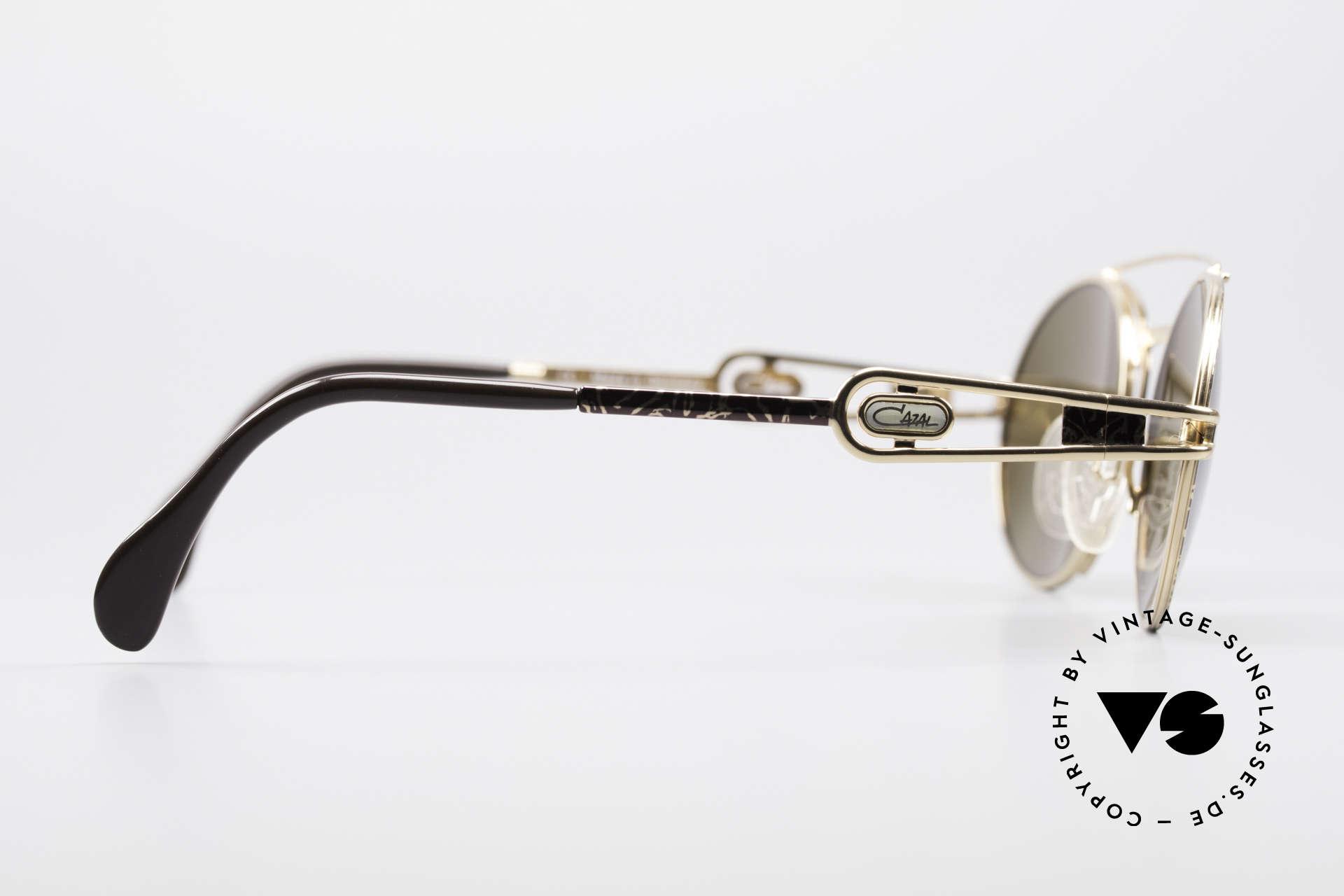 Cazal 965 90s Steampunk Oval Shades, Cazal sun lenses with 'UV Protection' mark (100% UV), Made for Men and Women