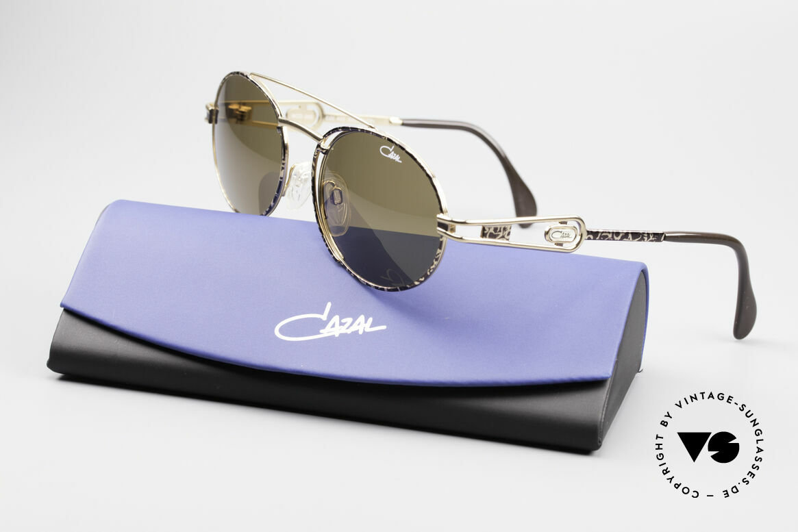 Cazal 965 90s Steampunk Oval Shades, Size: large, Made for Men and Women