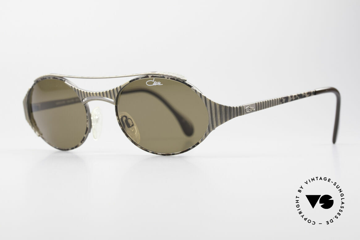 Cazal 978 Vintage Designer Sunglasses, sophisticated frame-design (appears 'antique metal'), Made for Men and Women