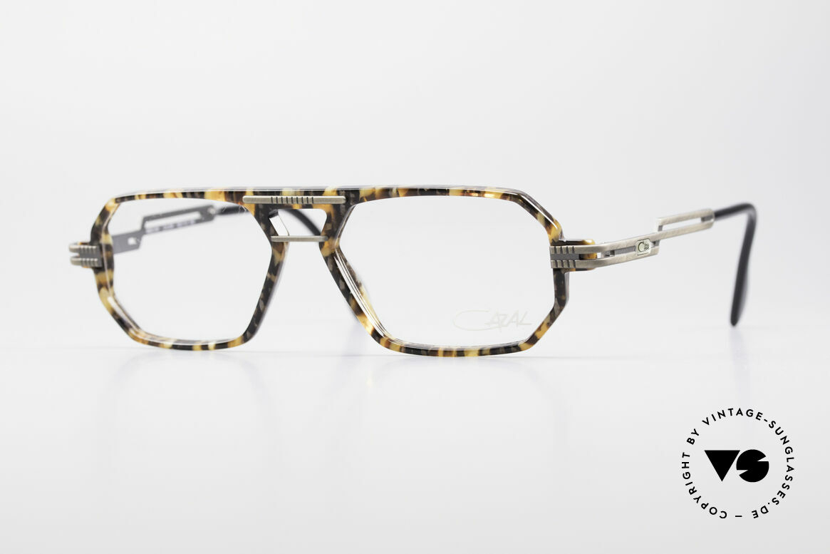 Cazal 651 Rare 90's Vintage Eyeglasses, multi-angular Cazal glasses (interesting frame pattern), Made for Men