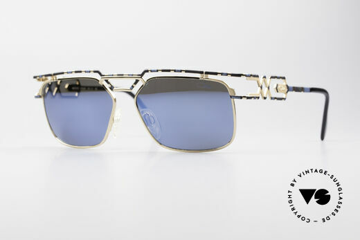 Cazal 973 Blue Mirrored 90s Sunglasses Details