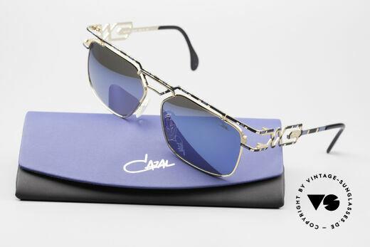 Cazal 973 Blue Mirrored 90s Sunglasses