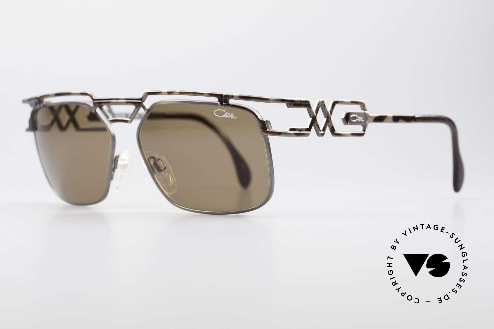 Cazal 973 High-End Designer Sunglasses, elegant & interesting coloring / pattern (antique metal), Made for Men and Women