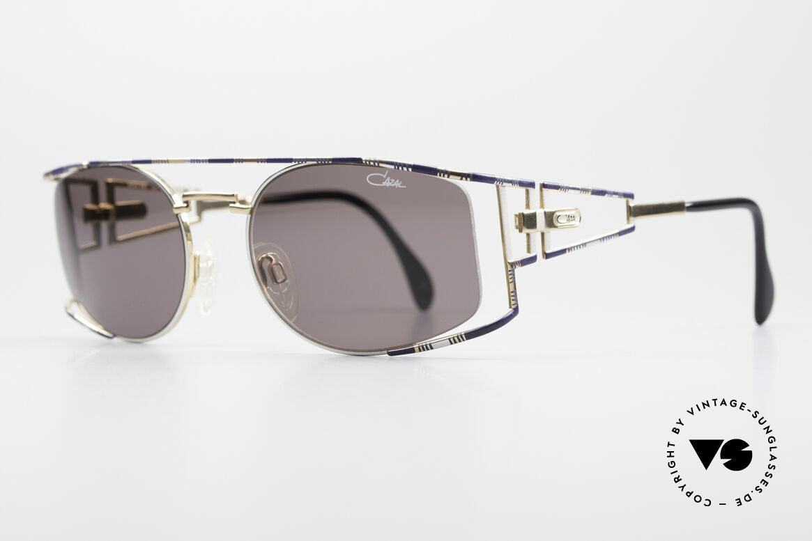 Cazal 967 Vintage Designer Sunglasses, complex and handcrafted finish (tricolored frame), Made for Men and Women