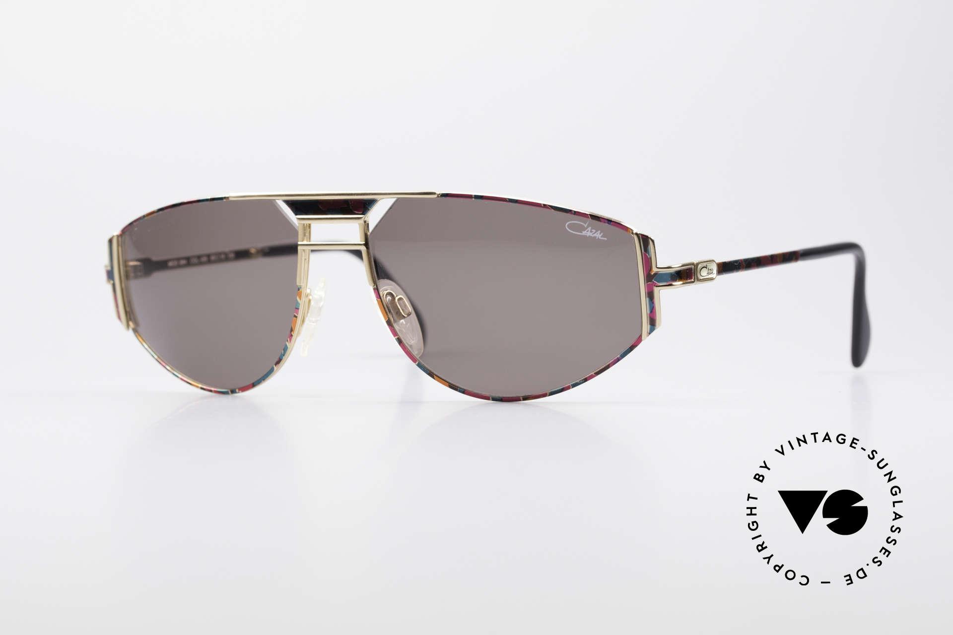 Cazal 964 True 90's No Retro Sunglasses, original Cazal vintage designer sunglasses from 1994, Made for Men and Women